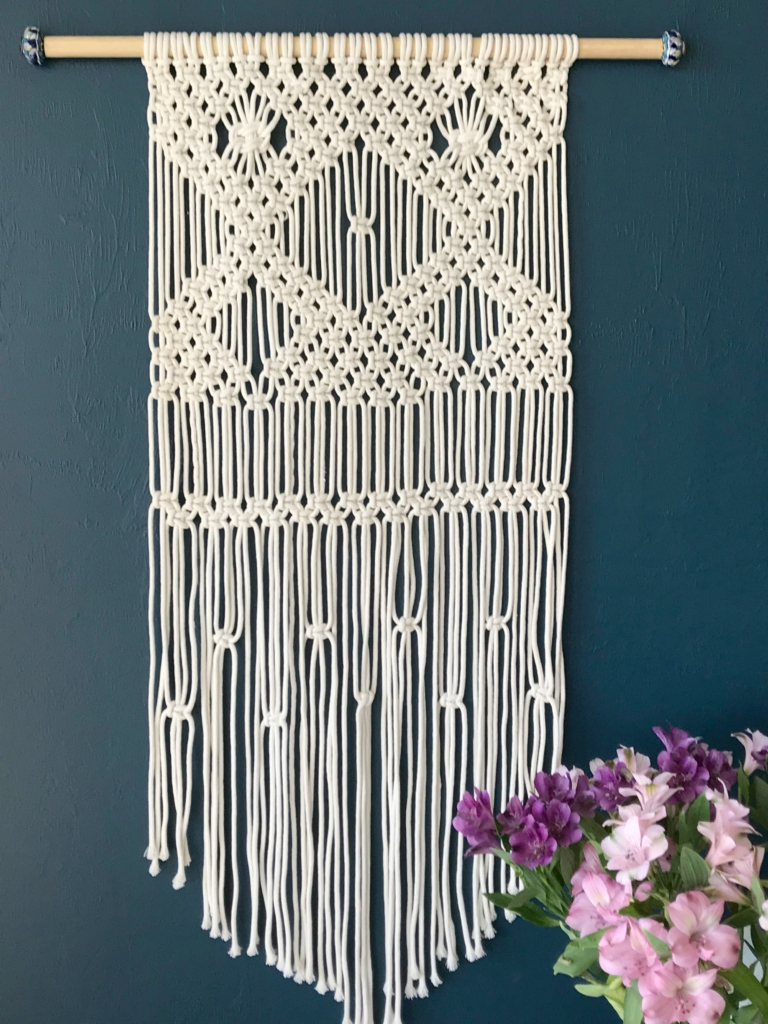 Floral Patterned Over The Door Wall Decor Within 2019 Macrame Wall Hanging For Beginners – My French Twist (View 9 of 20)