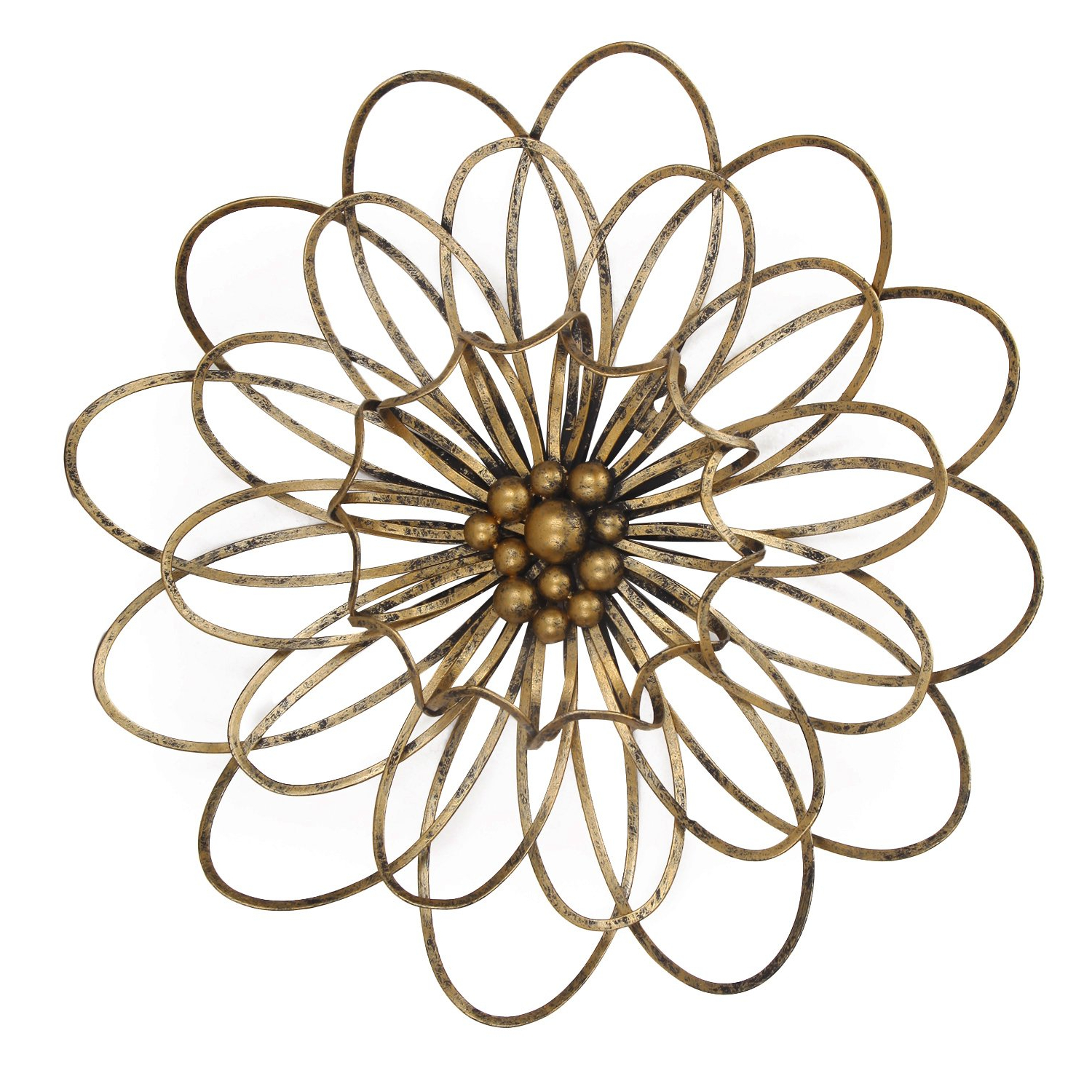 Featured Photo of Flower Urban Design Metal Wall Decor