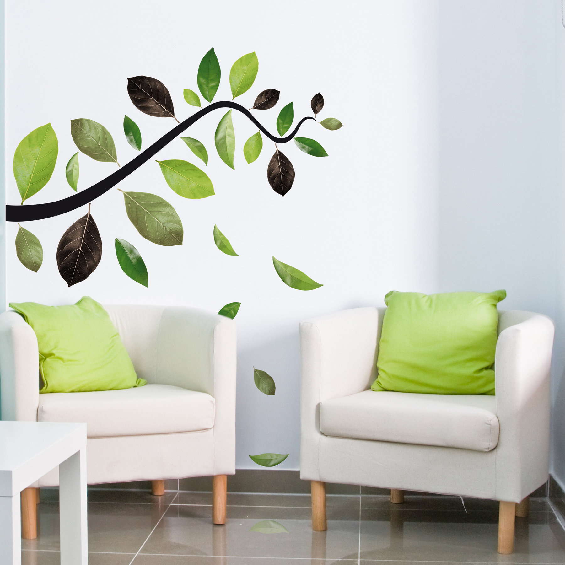 Flowing Leaves Wall Decor Inside Most Recent Wallpops! Home Decor Line Falling Leaves Wall Decal (View 9 of 20)
