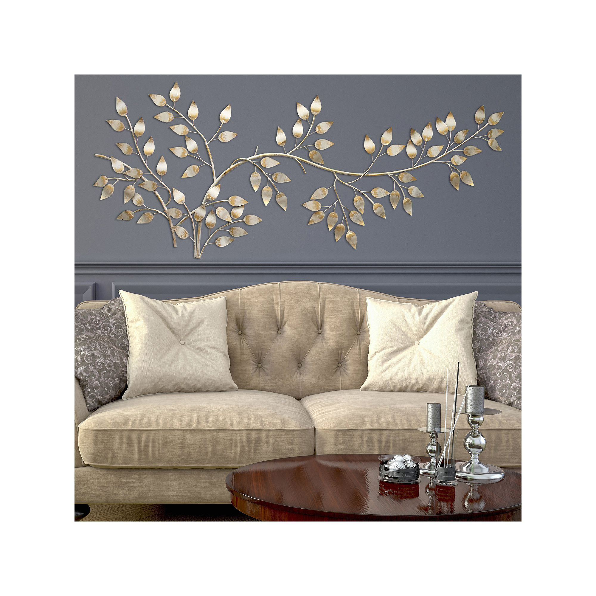 Flowing Leaves Wall Decor Inside Most Recently Released Stratton Home Decor Flowing Leaves Metal Wall Decor In  (View 10 of 20)