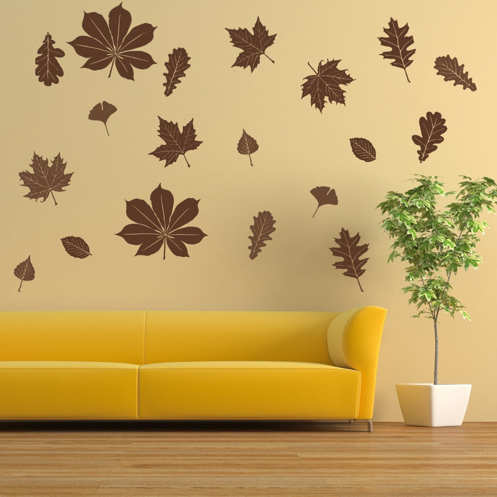 Flowing Leaves Wall Decor Pertaining To Famous Shop Falling Leaves Wall Decal Vinyl Art Home Decor – On Sale – Free (View 12 of 20)