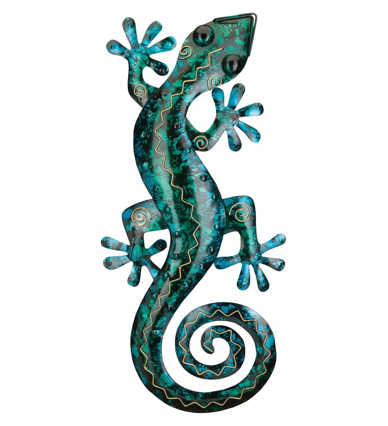 """Gecko Wall Decor Pertaining To Most Popular Gecko Wall Decor – Gecko Wall Decor 29"""" – Turquoise – Regal  (View 10 of 20)"""
