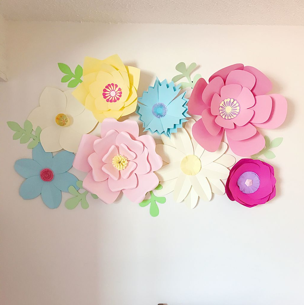 Giant Paper Flower Wall Decor: 16 Steps (With Pictures) Throughout Trendy Flower Wall Decor (View 10 of 20)