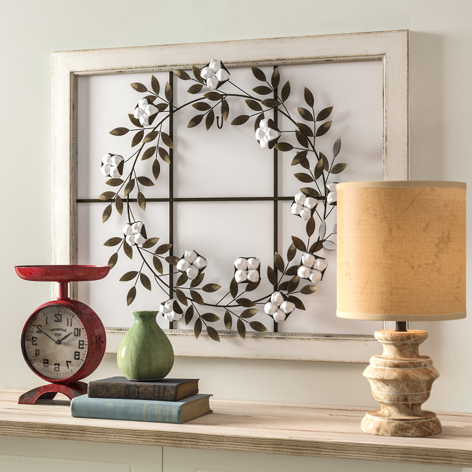 Gracie Oaks Floral Wreath Wood Framed Wall Décor & Reviews (View 9 of 20)