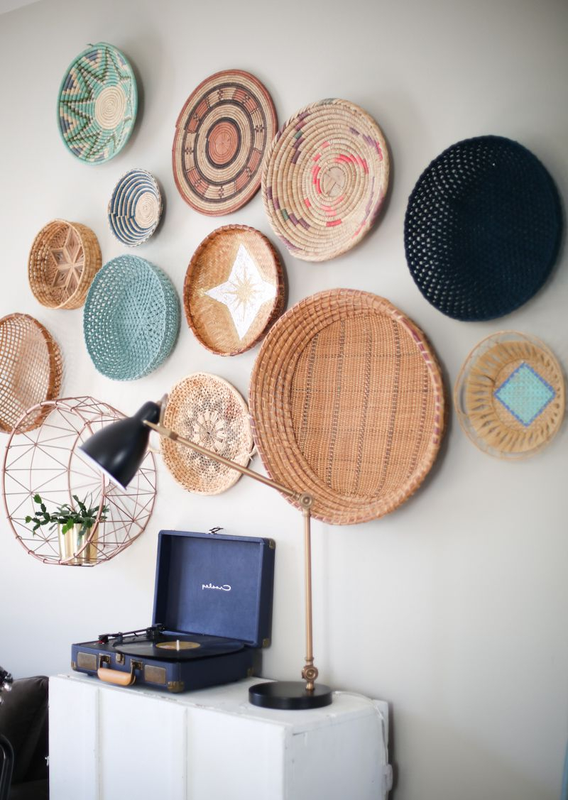 Home Decor Baskets, African Home Inside 4 Piece Handwoven Wheel Wall Decor Sets (Gallery 7 of 20)