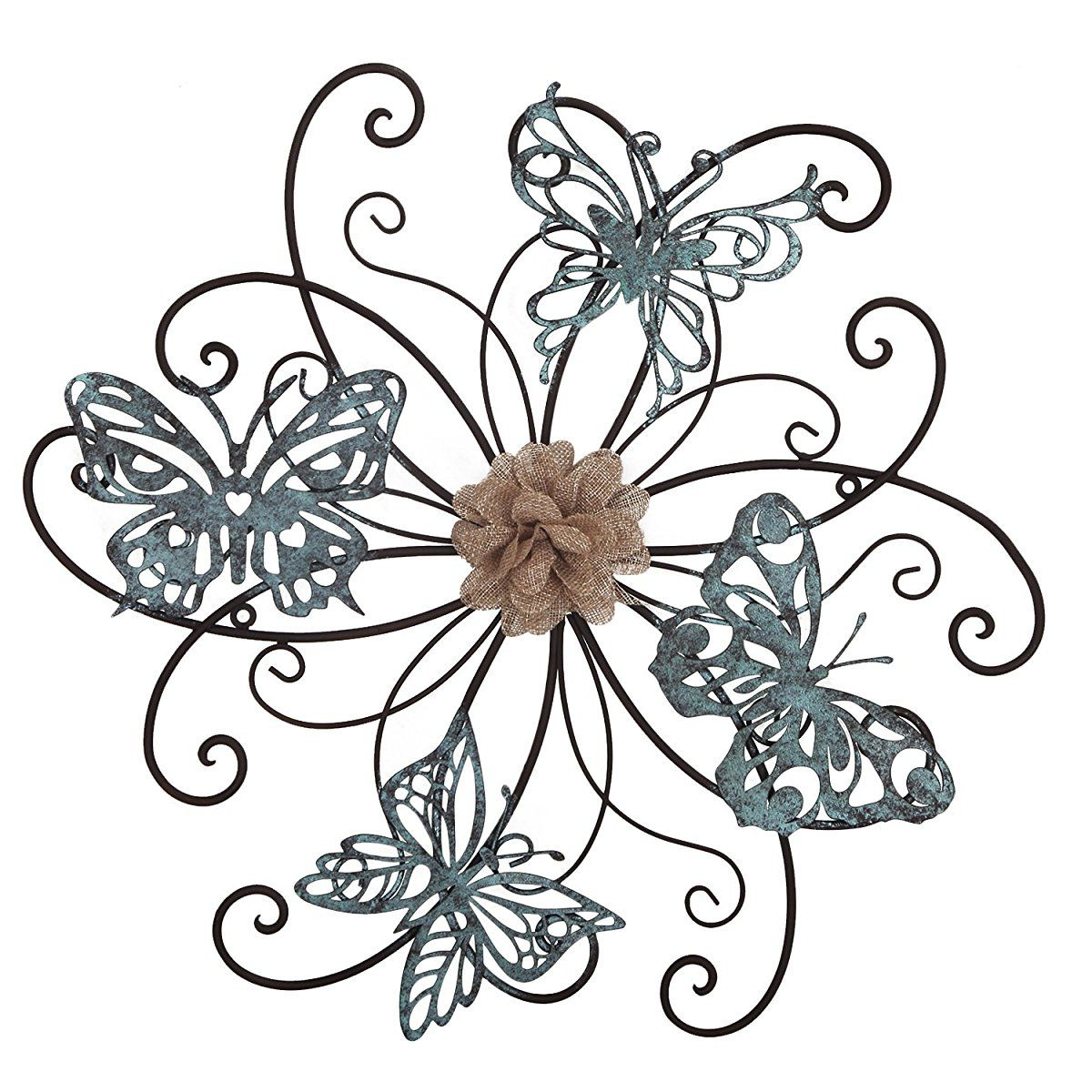 Homes Art Flower And Butterfly Urban Design Metal Wall Decor For For Famous Flower Urban Design Metal Wall Decor (View 14 of 20)
