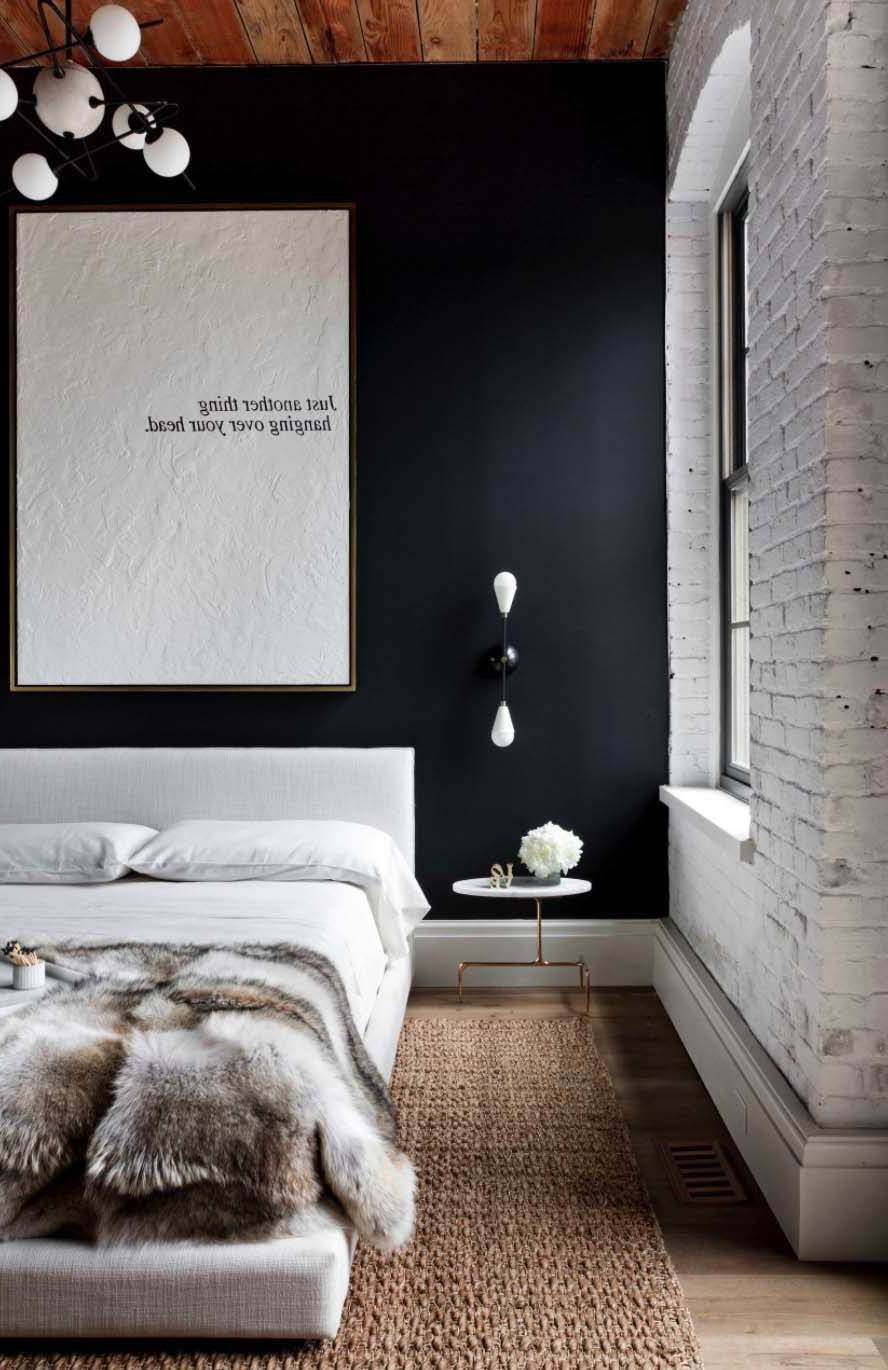 Large Modern Industrial Wall Decor Within Current 21 Industrial Bedroom Design Ideas (Gallery 13 of 20)