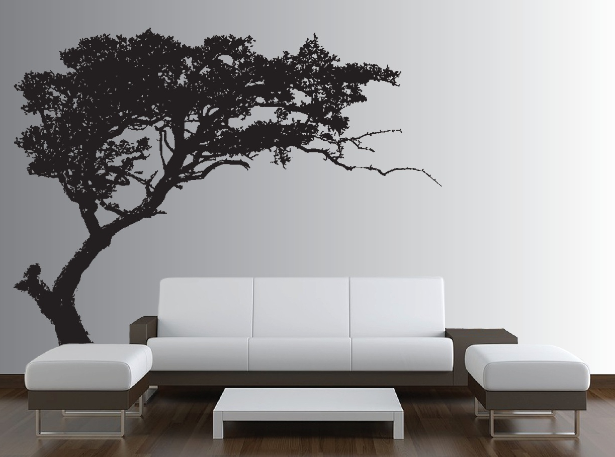 Large Wall Tree Decal Forest Decor Vinyl Sticker Highly Detailed Within Most Current Tree Wall Decor (Gallery 8 of 20)