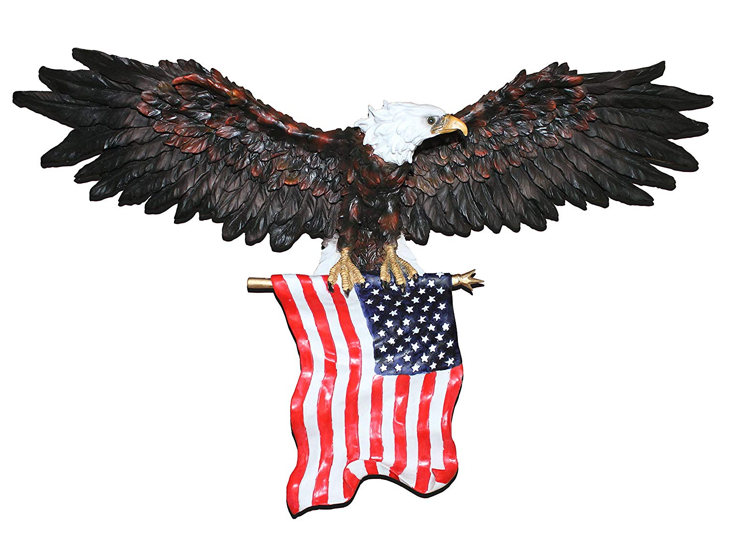Latest Amazon: Comlzd 3D American Eagle Wall Sculptures, Patriotic Within American Pride 3D Wall Decor (View 2 of 20)