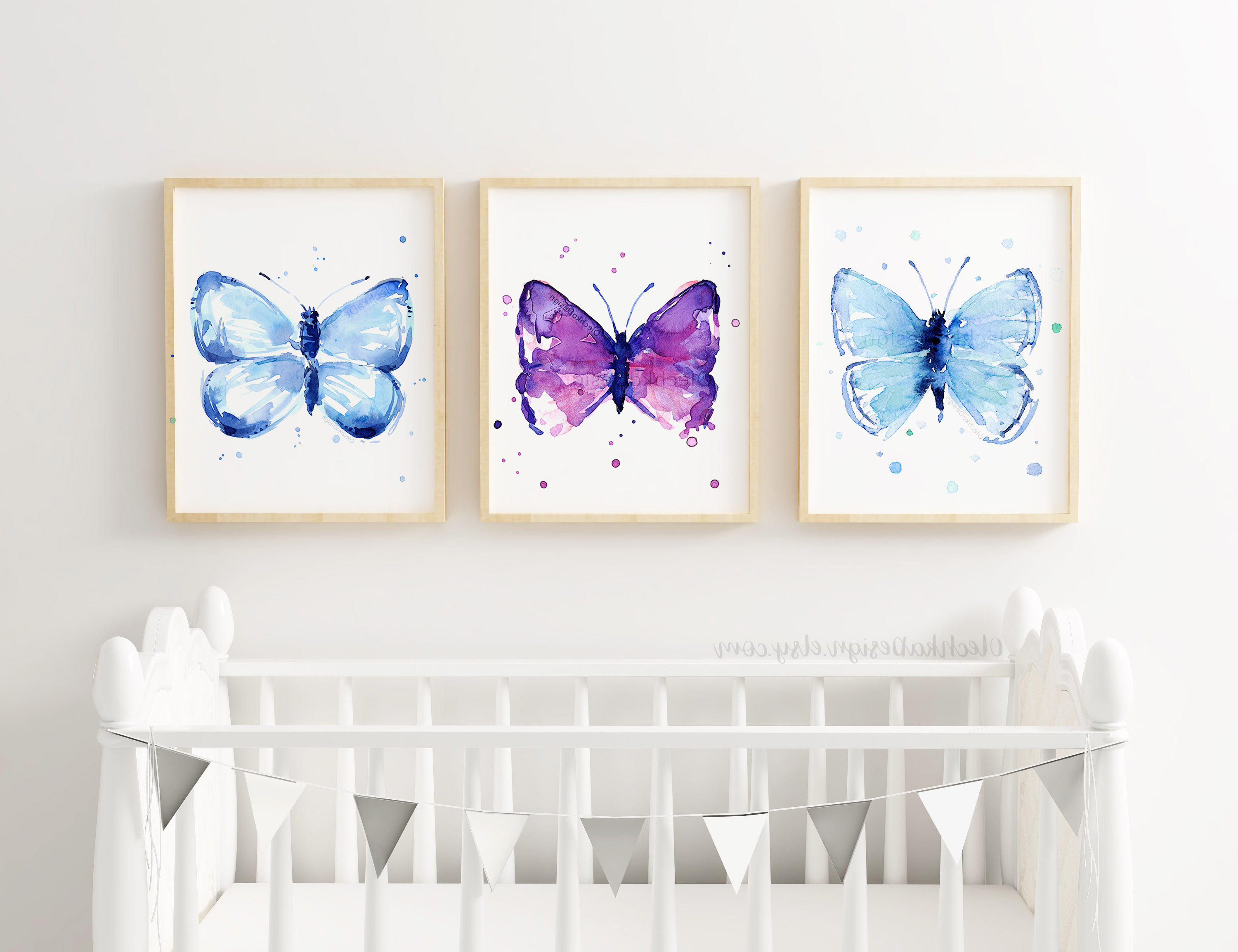 Latest Butterfly Wall Art Butterfly Prints Butterfly Art (Gallery 17 of 20)