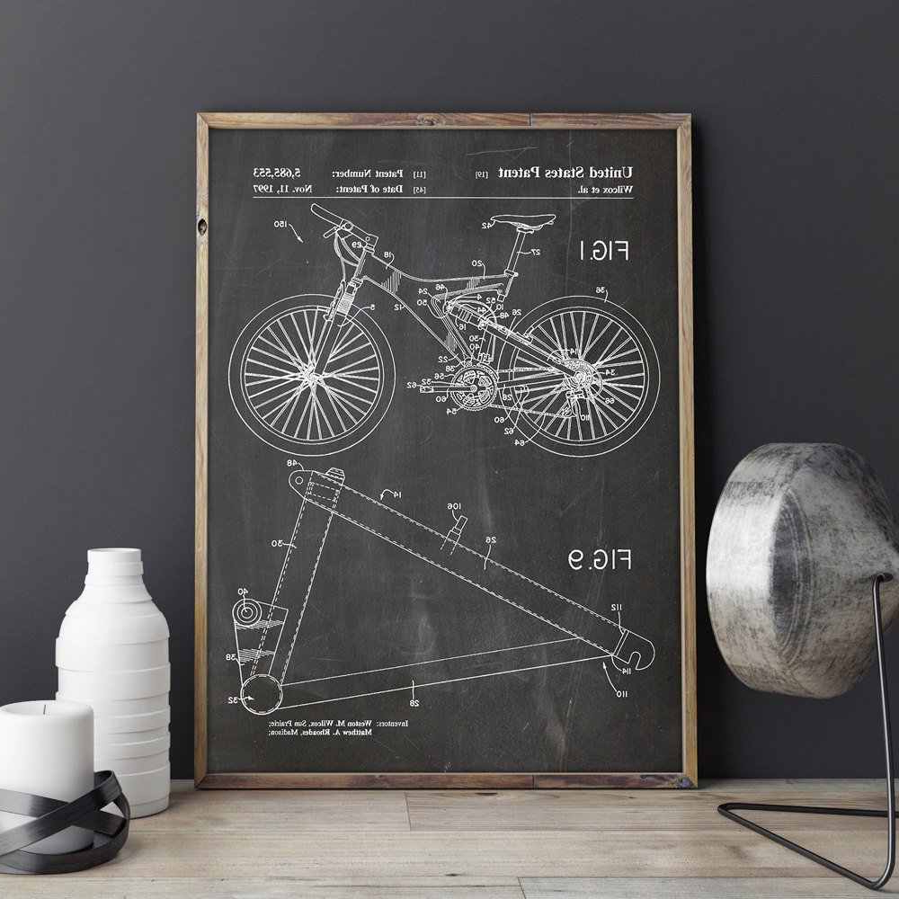 Latest Detail Feedback Questions About Mountain Bike Patent,cycling Artwork With Regard To Bike Wall Decor (View 20 of 20)