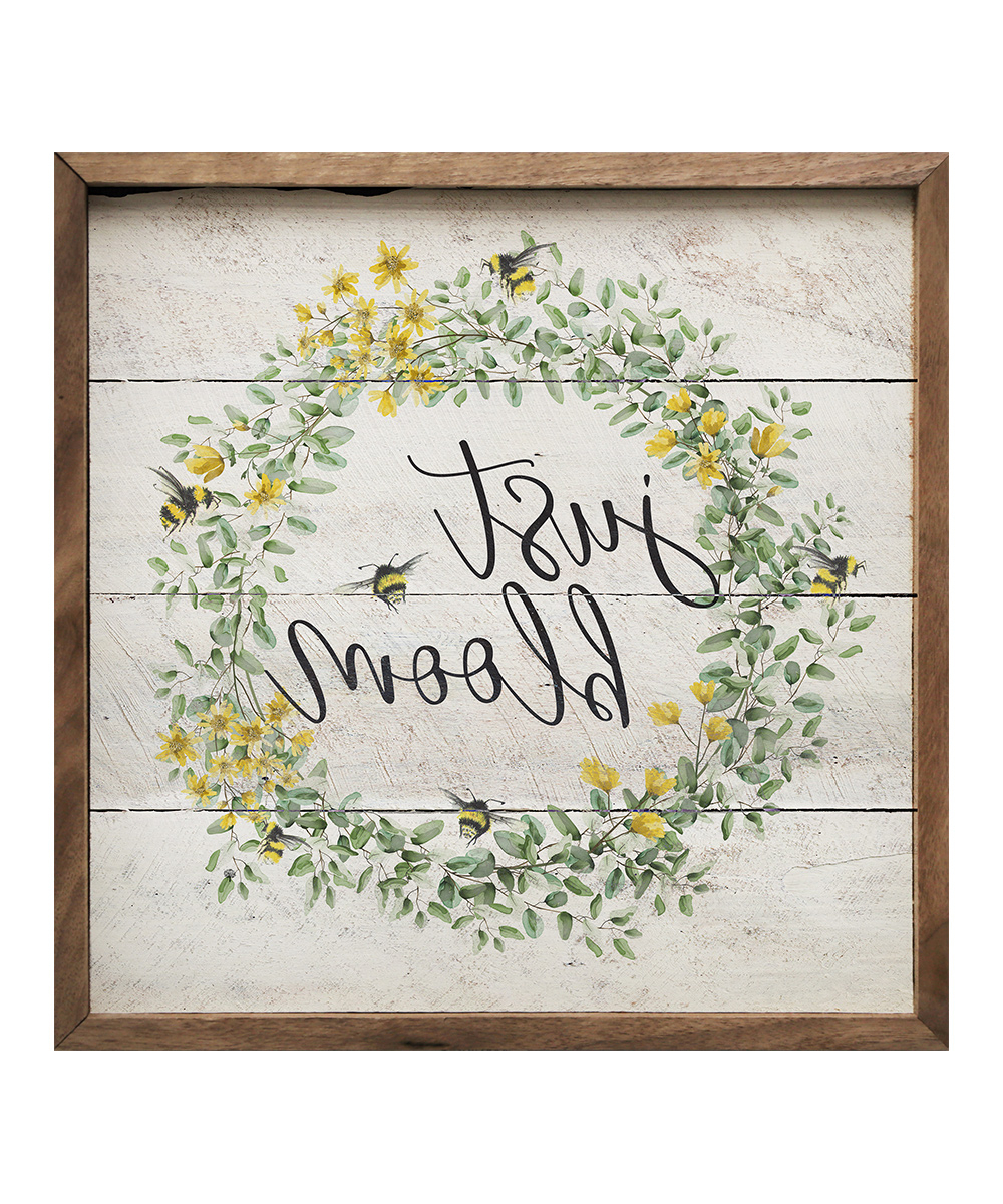 Latest Kendrick Home Just Bloom Bees Wreath Wall Art (View 14 of 20)