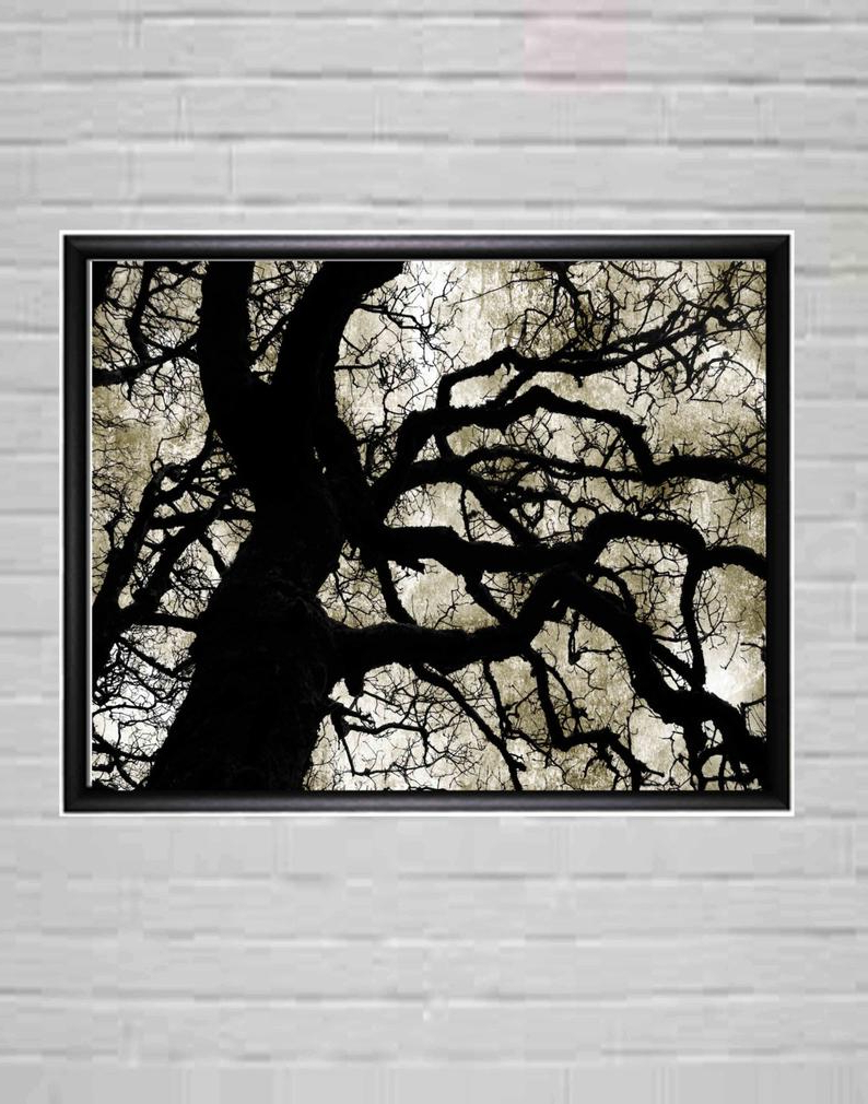 Latest Large Black And White Modern Wall Art Tree Wall Decor (Gallery 17 of 20)