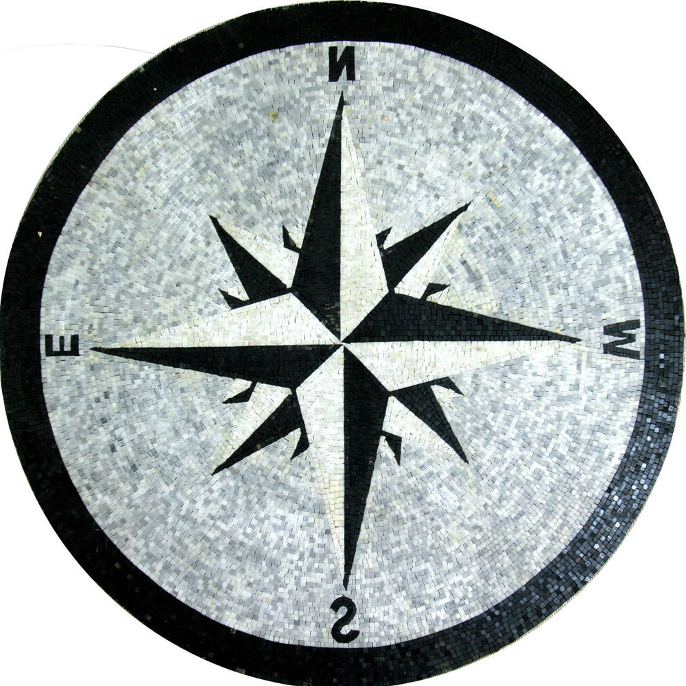 Latest Round Compass Wall Decor Pertaining To Floor Compass Wall Round Medallion Decor Marble Mosaic Md (View 10 of 20)