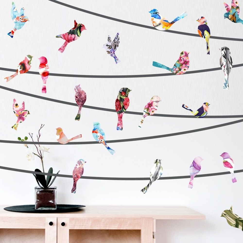 Library Promotion: Birds On Throughout Most Recent Birds On A Wire Wall Decor (Gallery 7 of 20)