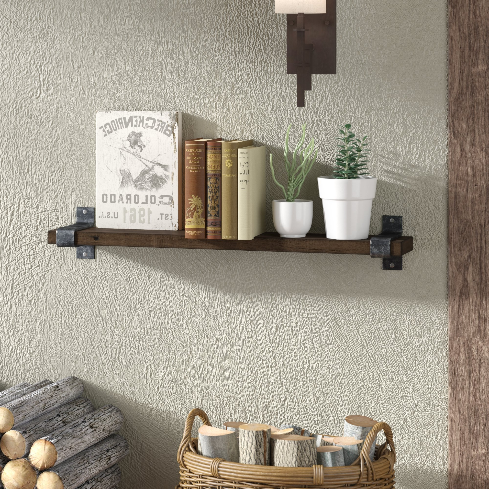 Loon Peak Farrell Industrial Wall Shelf & Reviews (View 19 of 20)