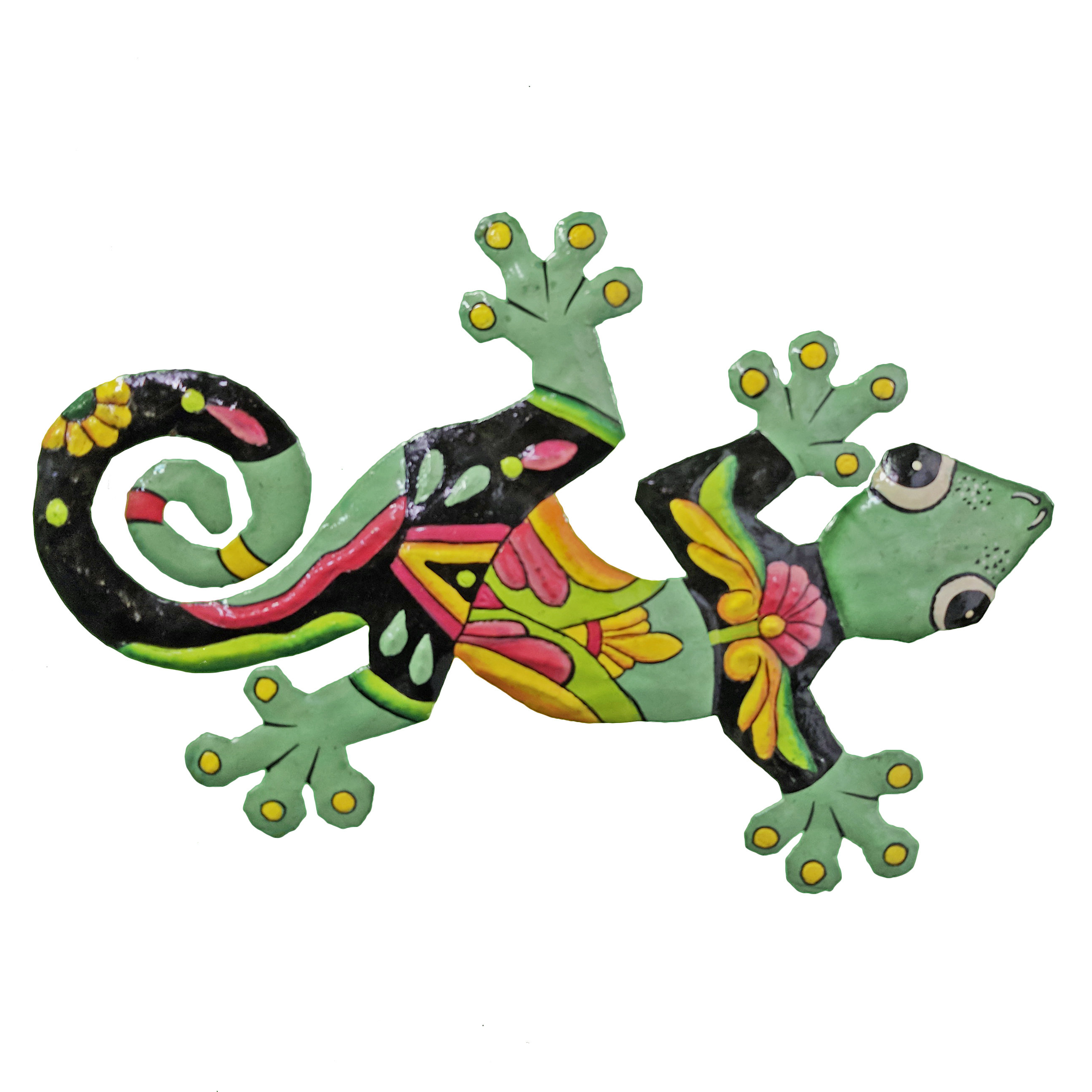 Loon Peak Painted Gecko Wall Décor (View 13 of 20)