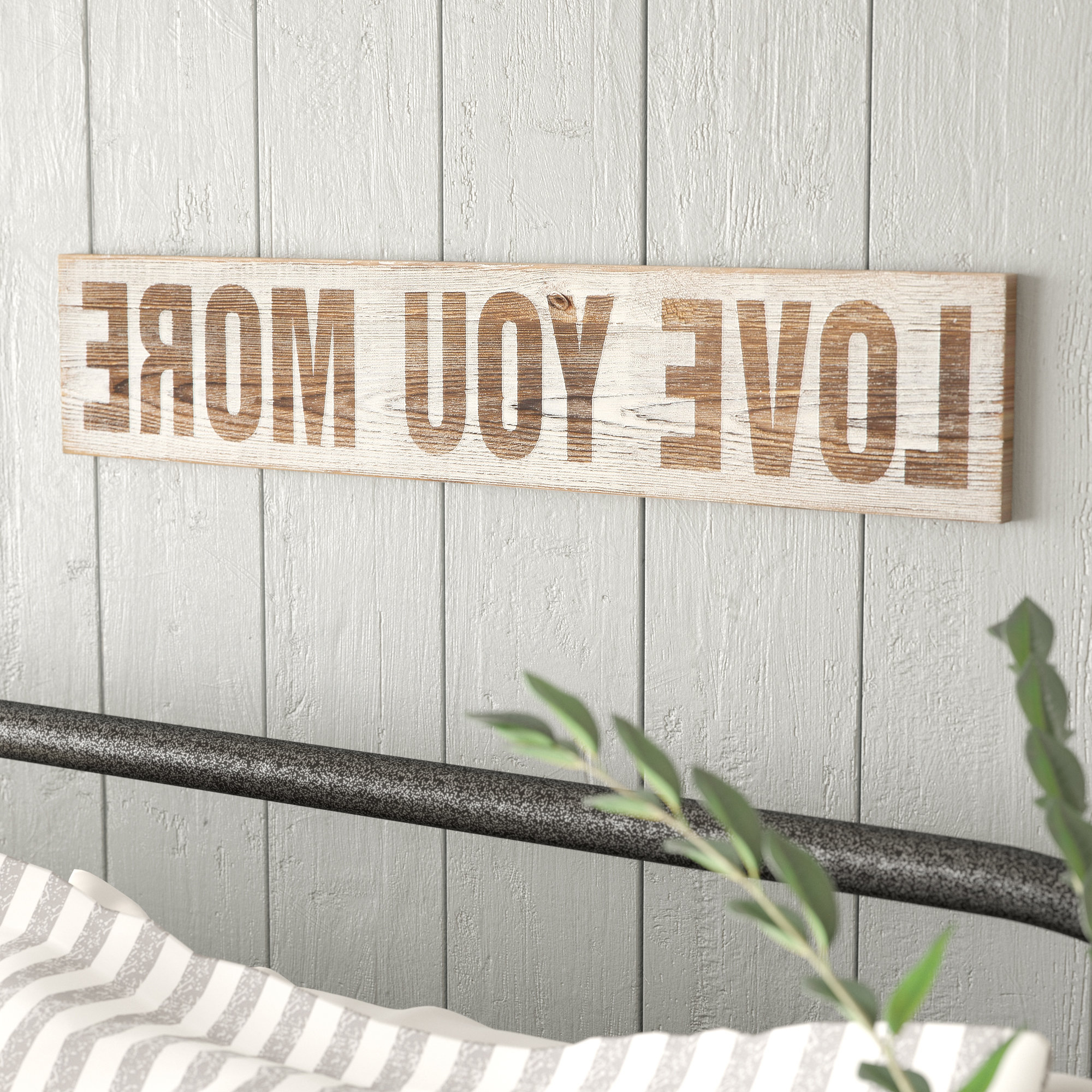 'love You More' Wood Wall Decor Throughout Most Up To Date Gracie Oaks 'love You More' Wood Wall Décor & Reviews (View 2 of 20)