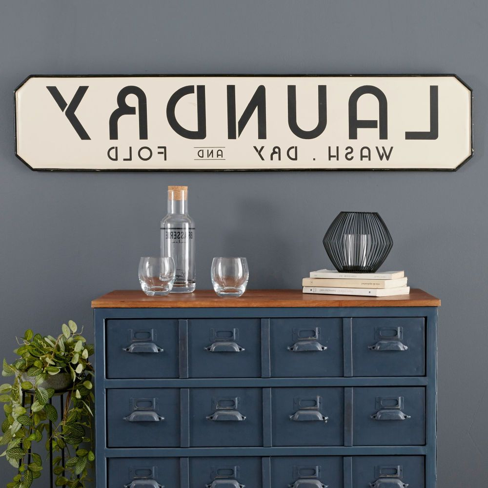 Maisons Du Monde Pertaining To Metal Laundry Room Wall Decor (View 11 of 20)