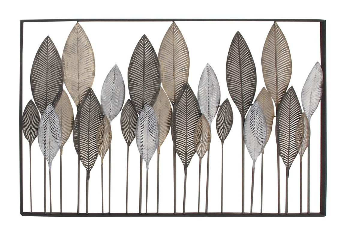 Metal Leaf Wall Decor – Pmpresssecretariat With Regard To Recent Metal Leaf Wall Decor By Red Barrel Studio (View 2 of 20)