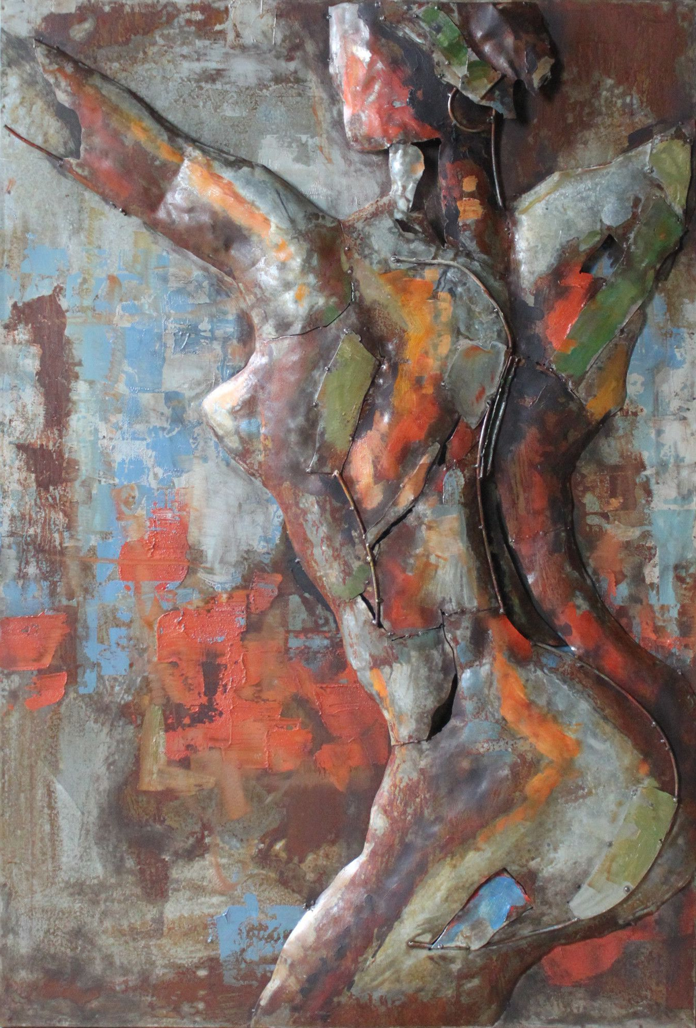 "Mixed Media Iron Hand Painted Dimensional Wall Decor In Preferred Nude Study 2"" Mixed Media Iron Hand Painted Dimensional Wall Décor (Gallery 11 of 20)"