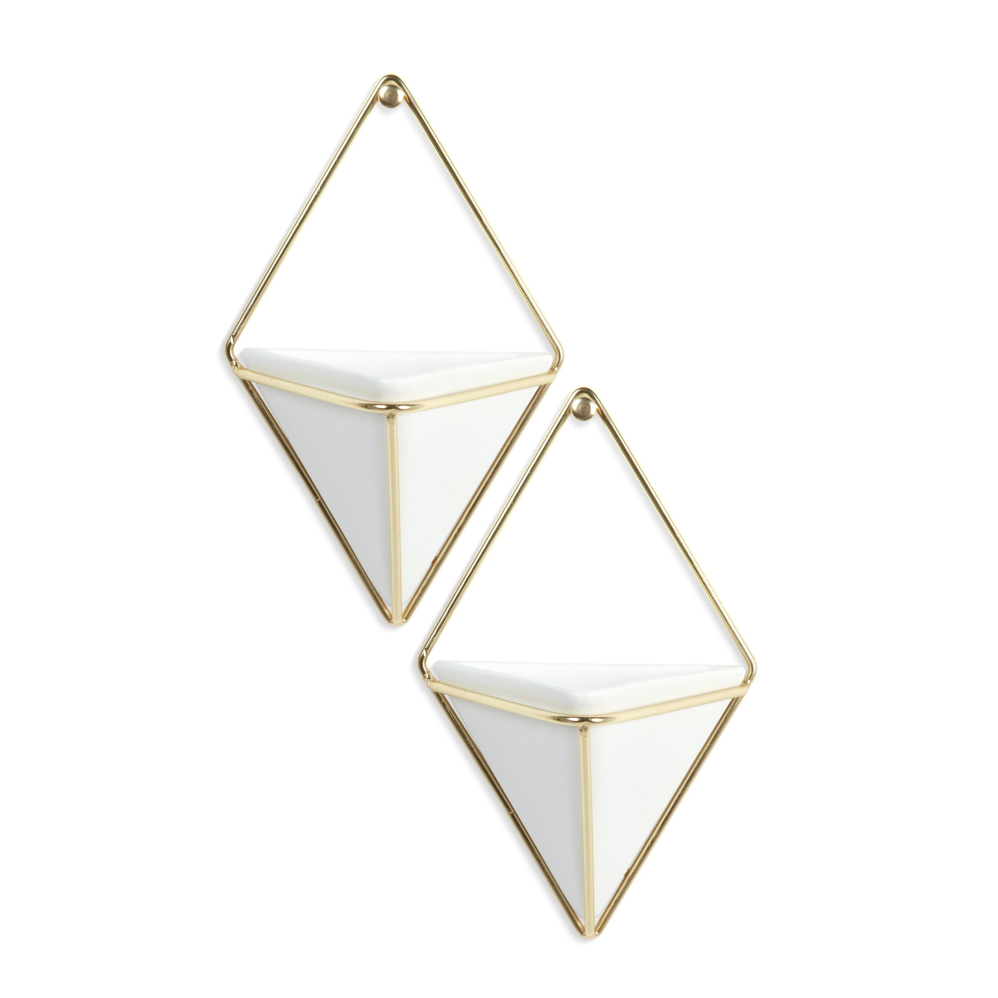 Most Current 2 Piece Trigg Wall Decor Sets (Set Of 2) With Regard To Shop Umbra Trigg Hanging Planter & Wall Decor (Set Of 2) – Free (Gallery 6 of 20)