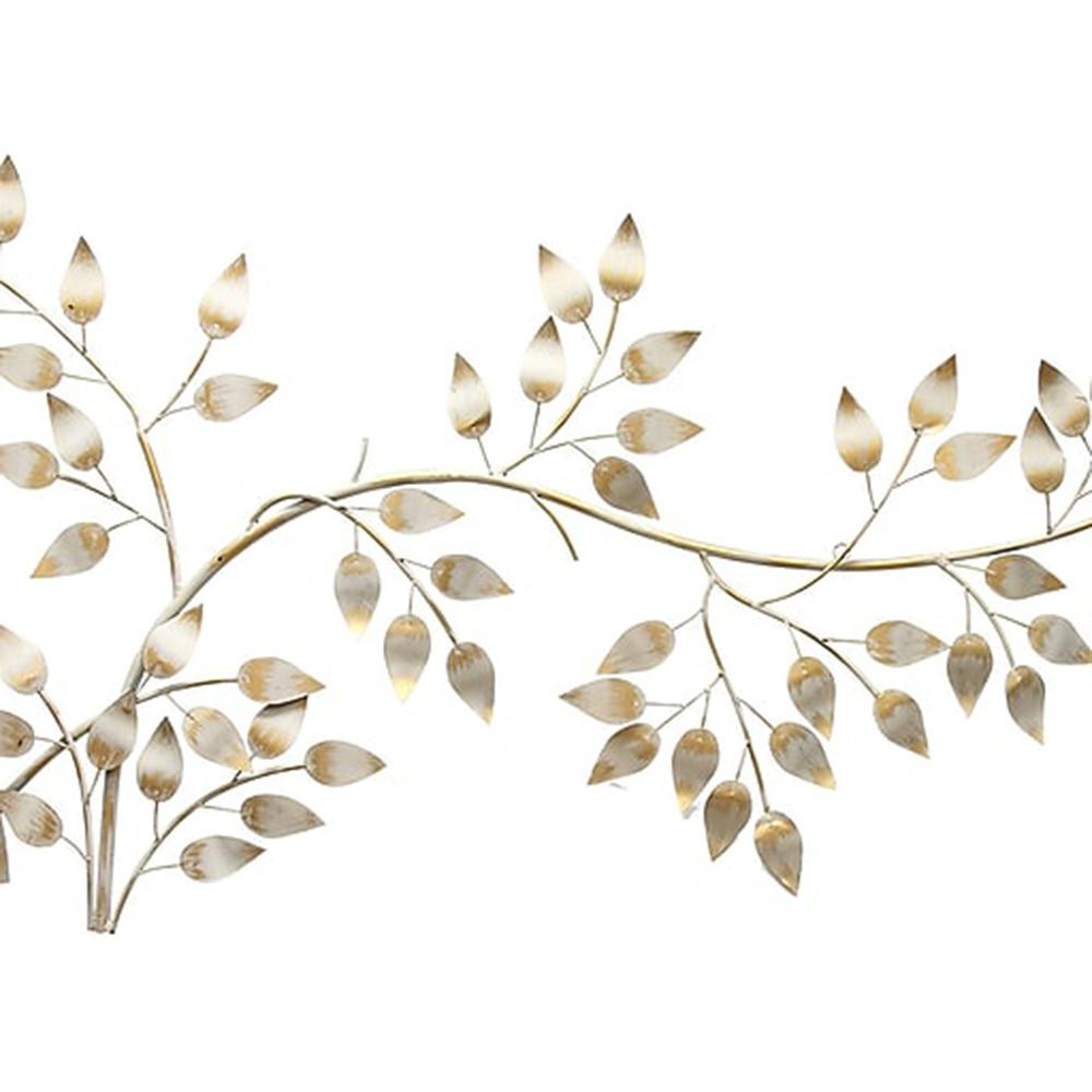 Most Current Flowing Leaves Wall Decor In Stratton Home Decor Brushed Gold Flowing Leaves Wall Decor Shd0106 (Gallery 6 of 20)