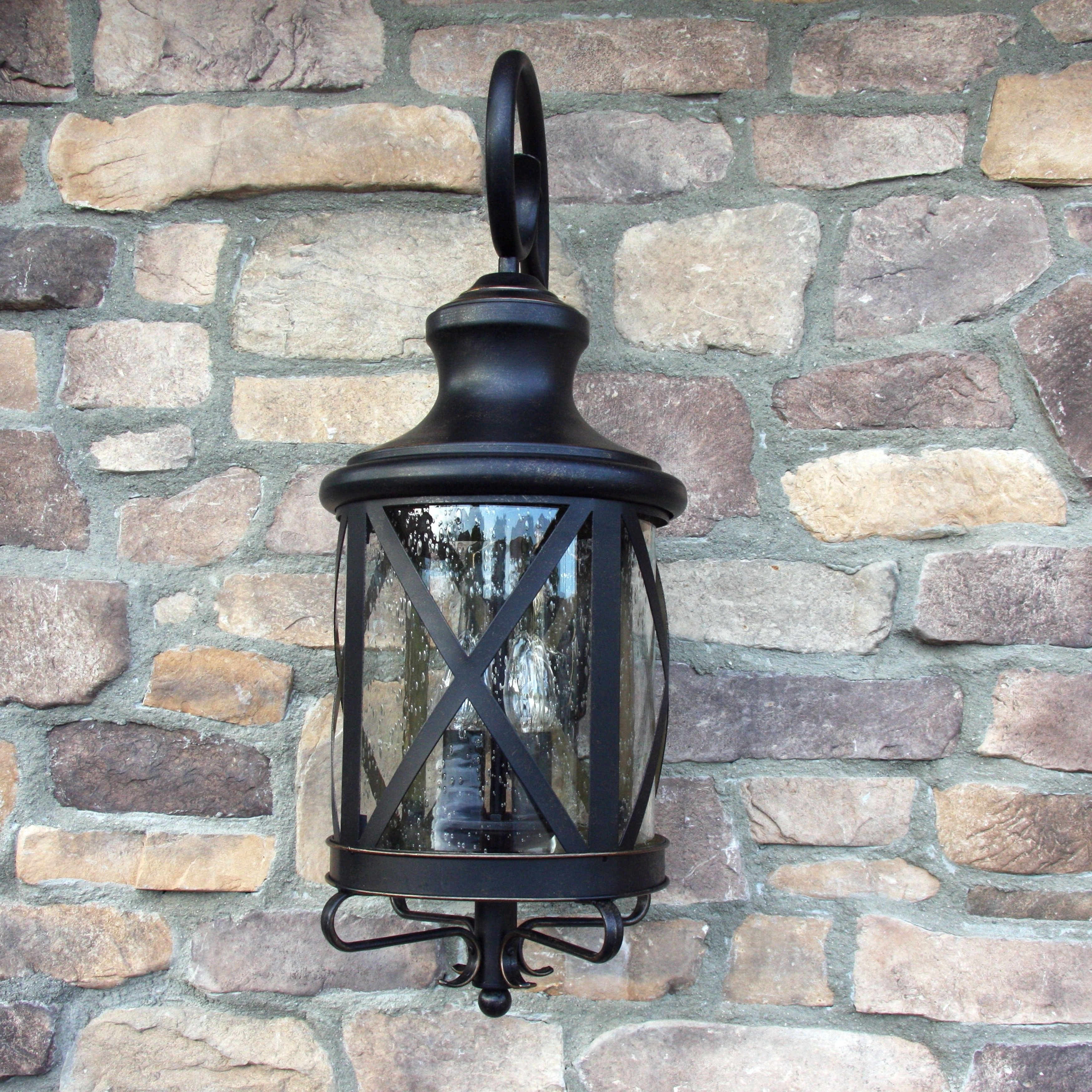 Most Current Oil Rubbed Metal Wall Decor Within Shop Y Decor Taysom 3 Light Exterior Light In Oil Rubbed Bronze (View 6 of 20)