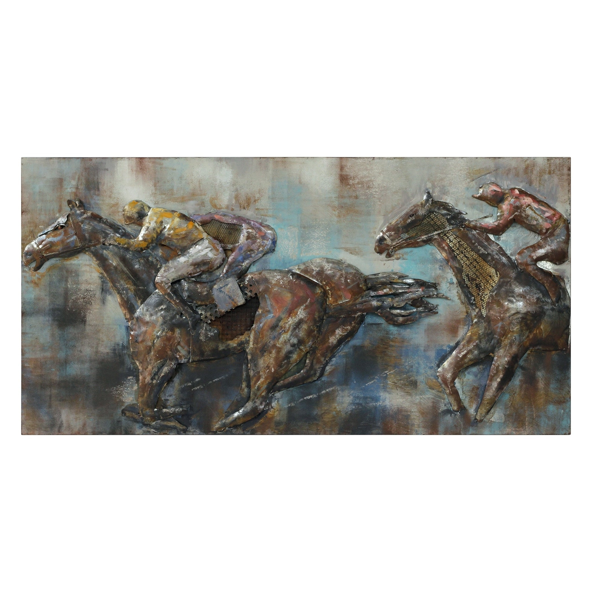 "Most Current Race Day"" Mixed Media Iron Hand Painted Dimensional Wall Décor Within Mixed Media Iron Hand Painted Dimensional Wall Decor (View 14 of 20)"