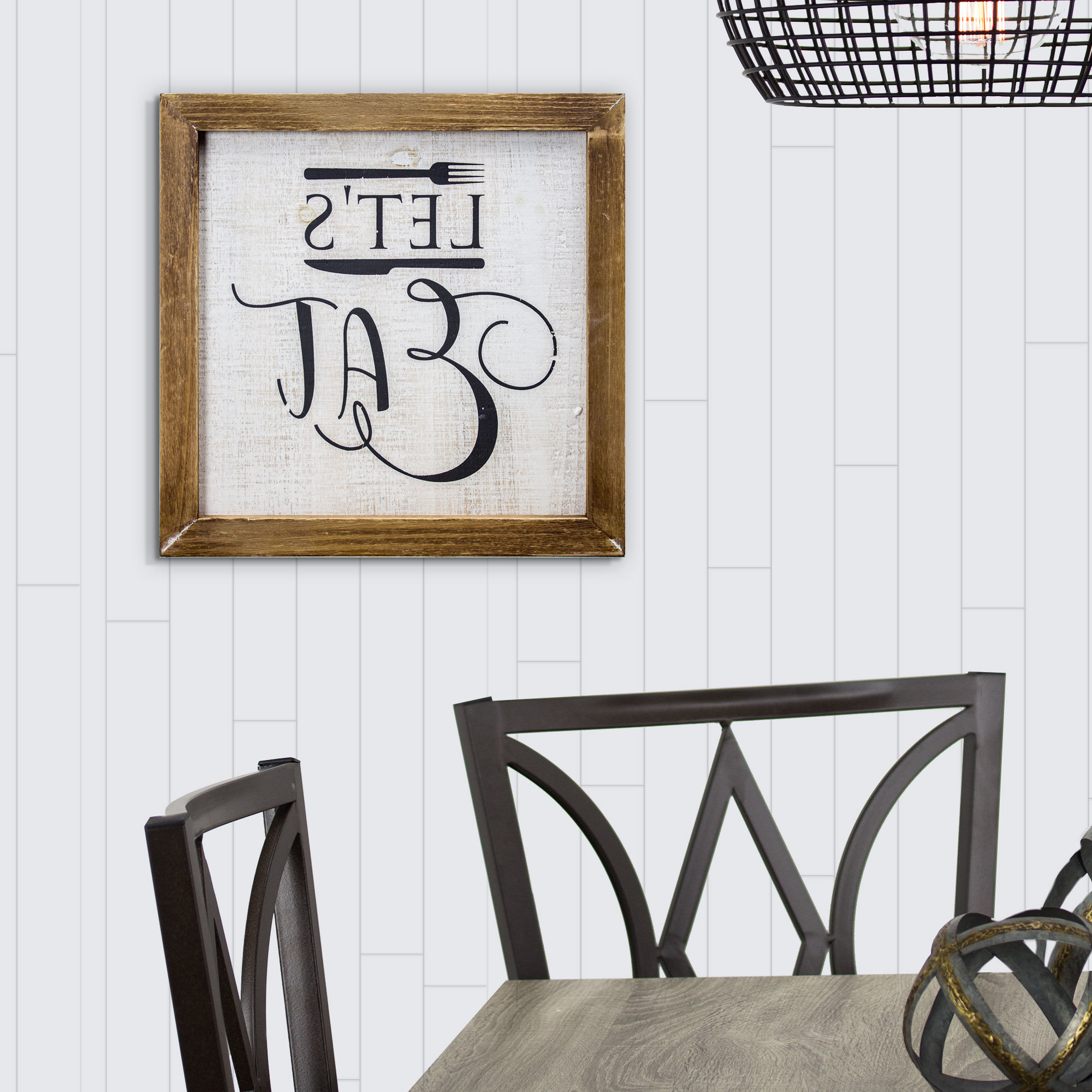 Most Current Winston Porter 'let's Eat' Whitewashed Wood Sign Farmhouse Wall Inside Blessed Steel Wall Decor (View 14 of 20)