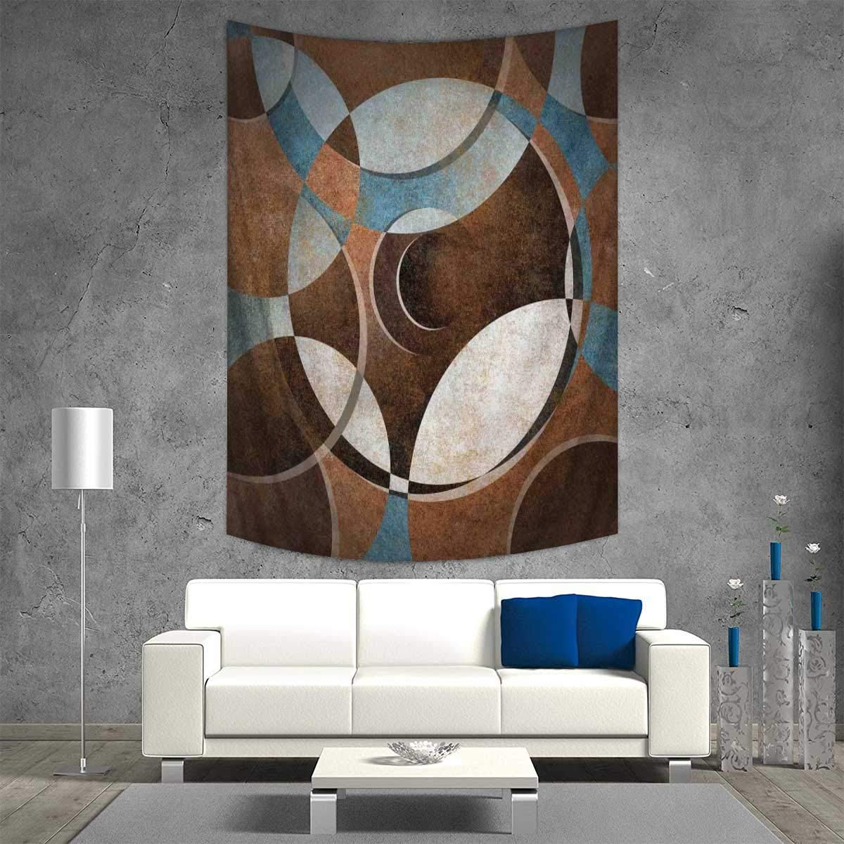 Most Popular Contemporary Abstract Round Wall Decor With Amazon: Abstract Throw, Bed, Tapestry Yoga Blanket Grunge (View 2 of 20)