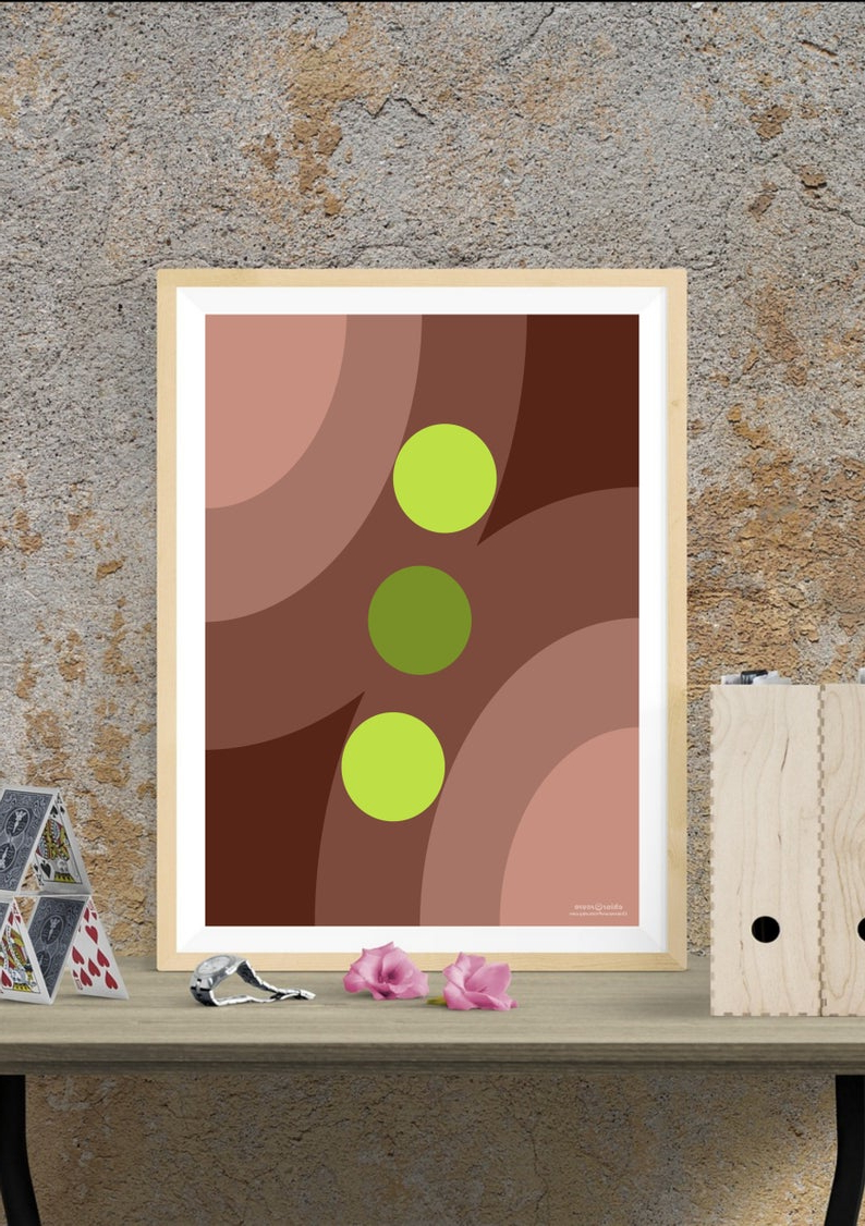 Most Popular Contemporary Geometric Wall Decor Intended For Retro Geometric Wall Art. Mid Century Modern Wall Decor In (Gallery 8 of 20)