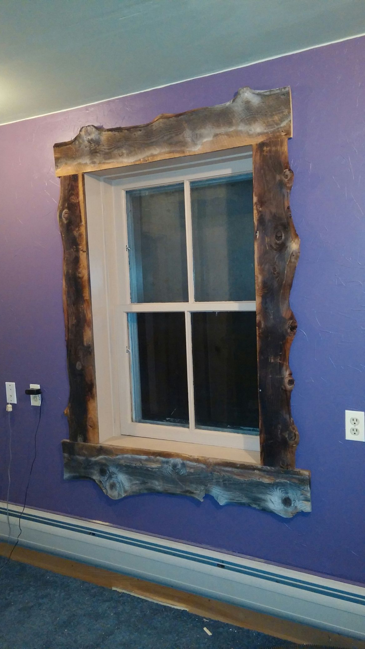 Most Popular Old Rustic Barn Window Frame Pertaining To Trimmed Out The Window With Old Slab Barnwood. Lookin' Pretty (Gallery 13 of 20)
