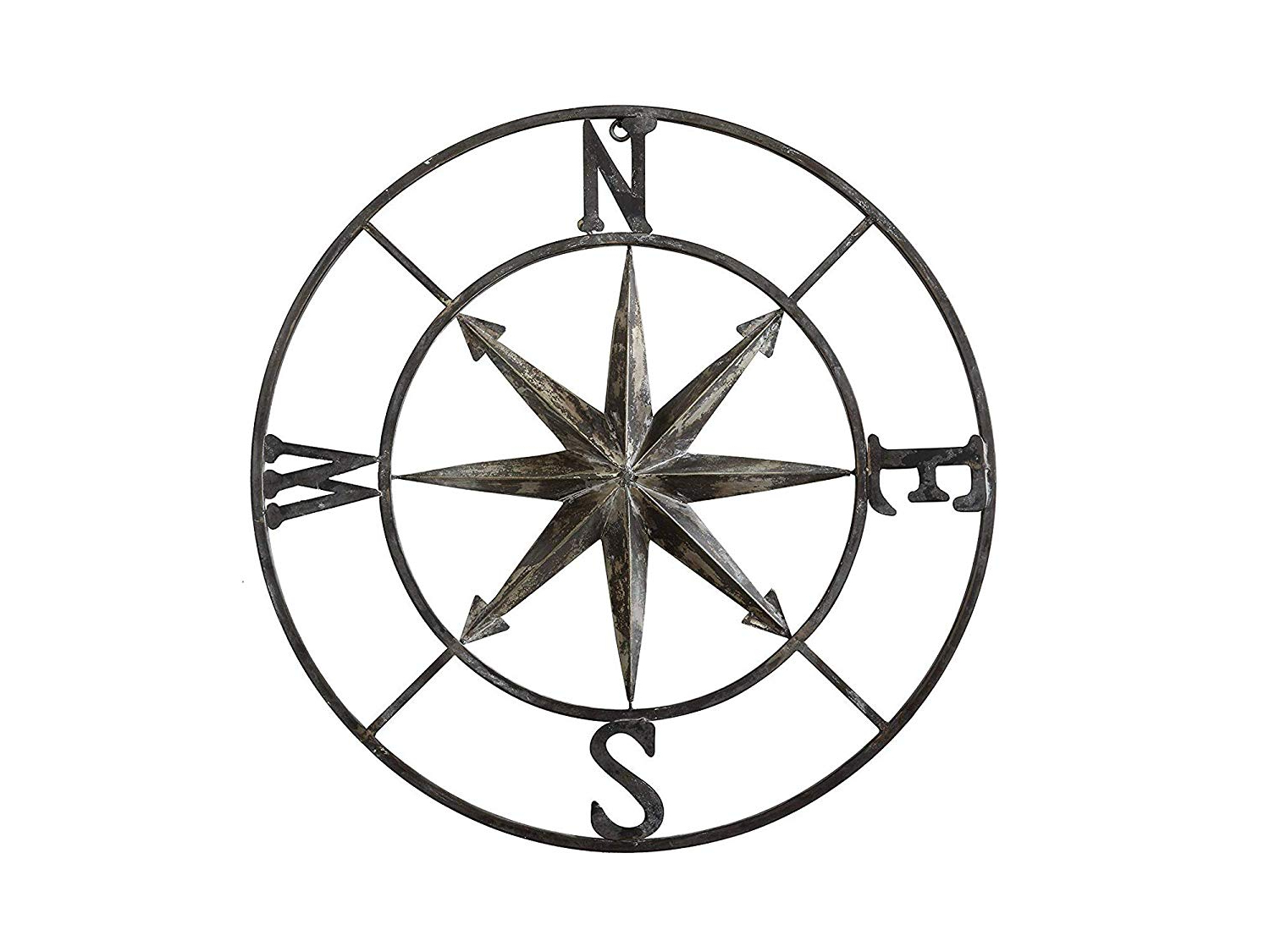 Most Popular Round Compass Wall Decor Inside Amazon: Crеаtivе Cо Оp Home Decor Da7818 Decorative Round Metal (View 11 of 20)