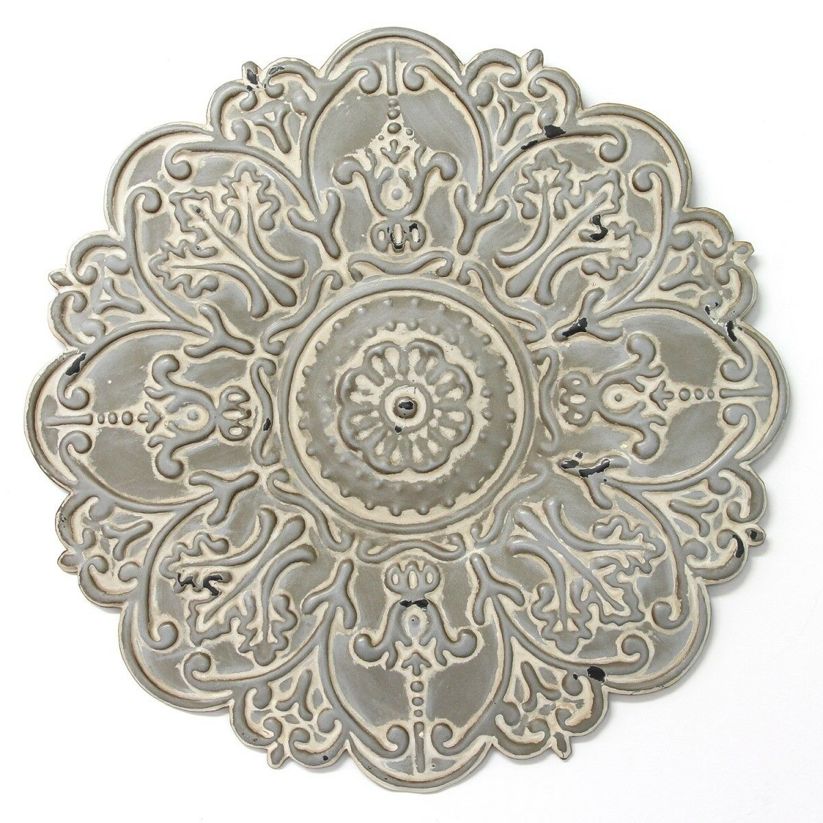Most Popular Small Medallion Wall Decor With Stratton Home Decor S11565 Small Medallion Wall Decor Grey (View 6 of 20)
