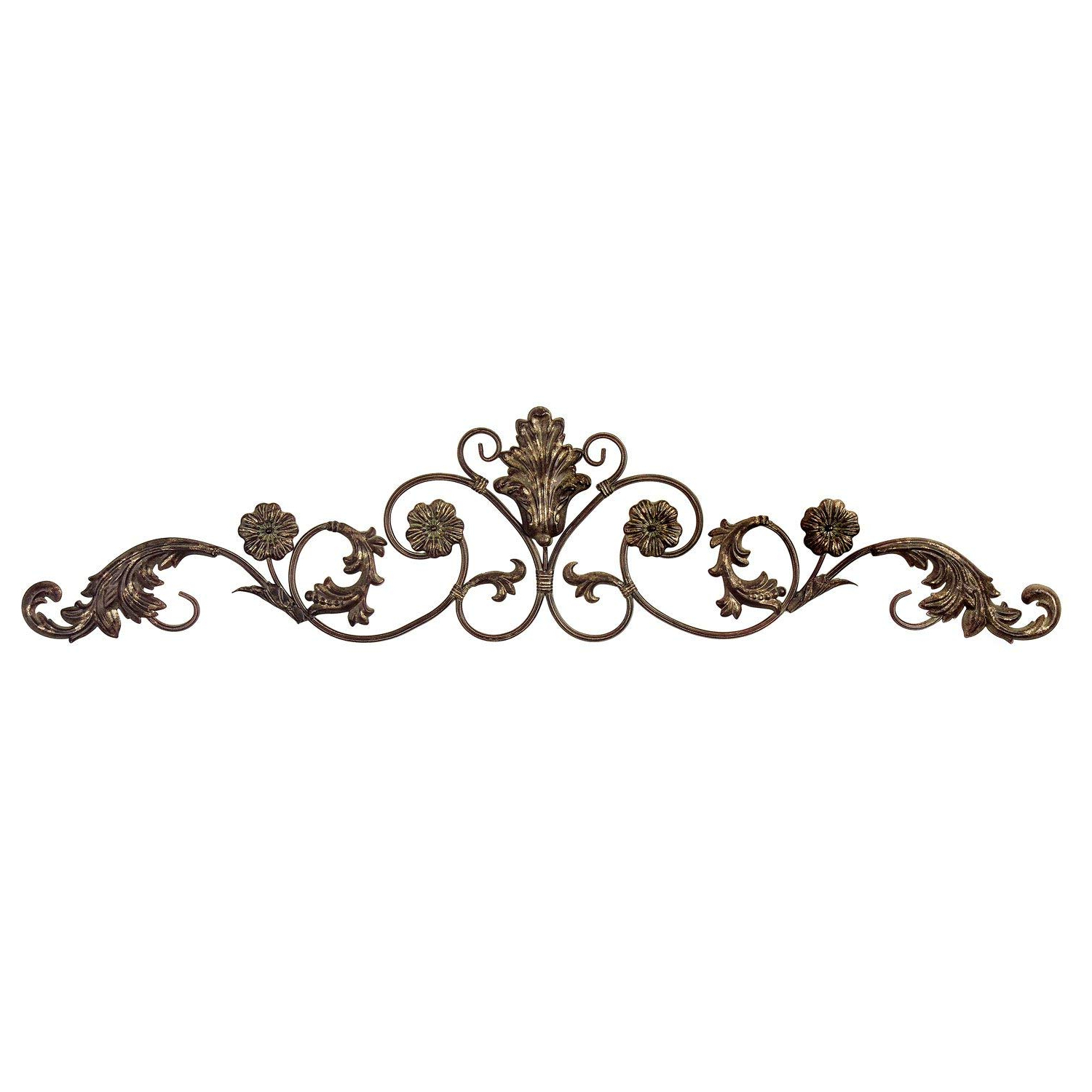 Most Recent Amazon: Imax Allegro Wall Decor Hanging In Gold Metallic Finish Within Belle Circular Scroll Wall Decor (View 14 of 20)