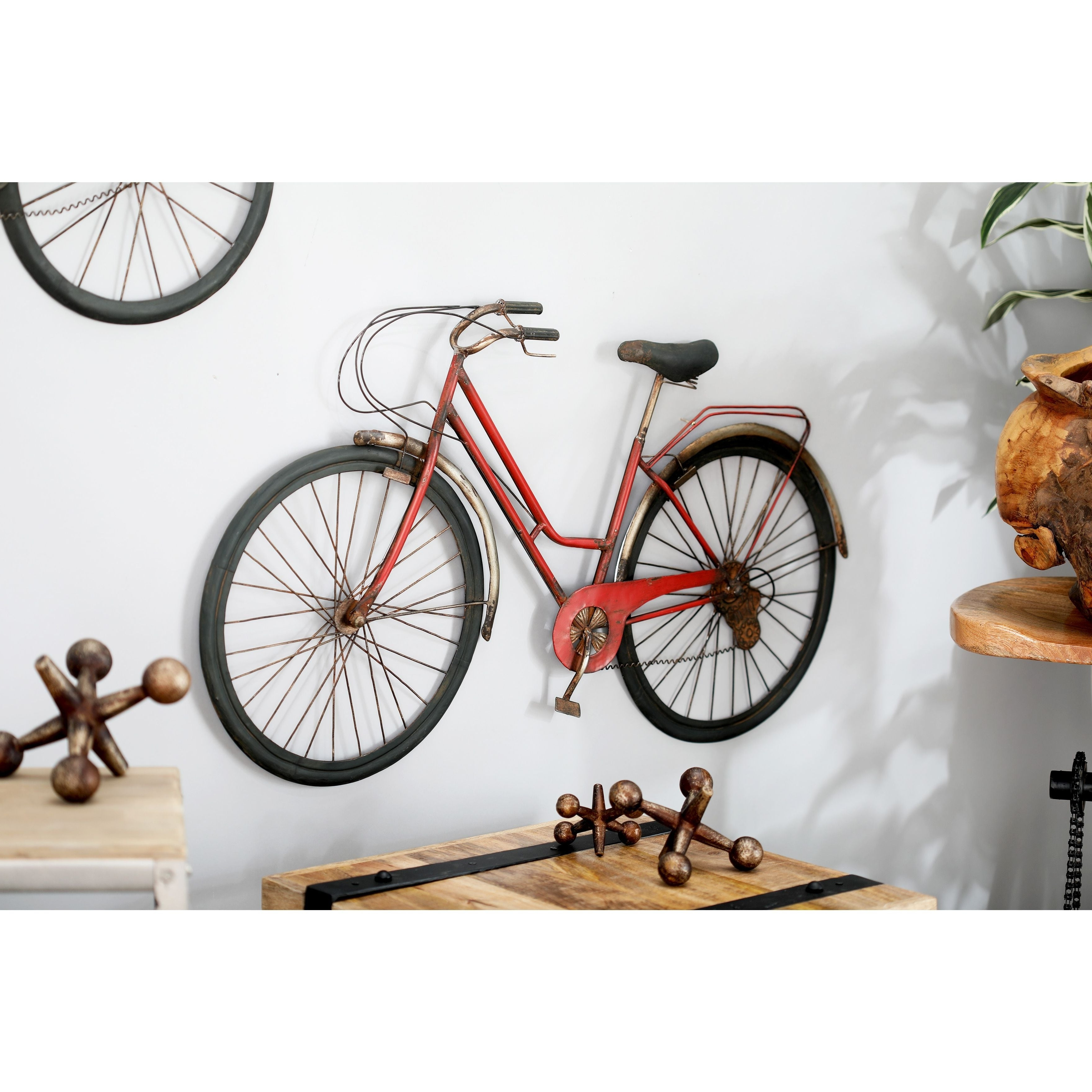 Most Recent Shop Modern Iron Red Bicycle Wall Decor – Free Shipping Today Throughout Bike Wall Decor (View 19 of 20)