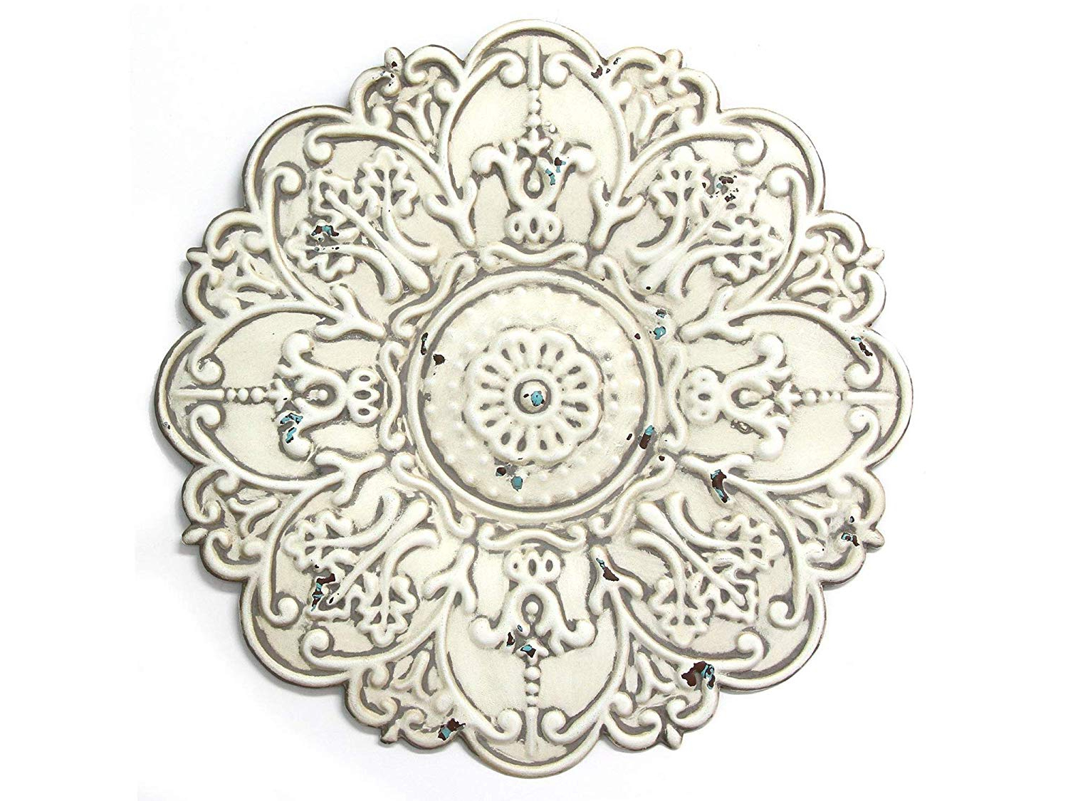 Most Recent Small Medallion Wall Decor In Amazon: Strаttоn Hоmе Dеcоr Home Decor Décor S11563 Small (View 7 of 20)