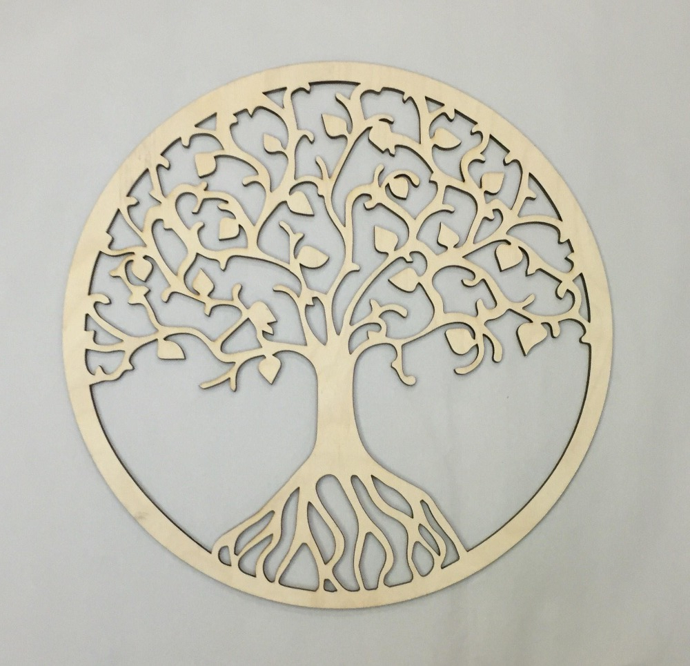 Most Recent Tree Of Life Wall Decor Pertaining To Rustic Wooden Tree Of Life Wall Decor, Party Photo Booth Props (View 9 of 20)