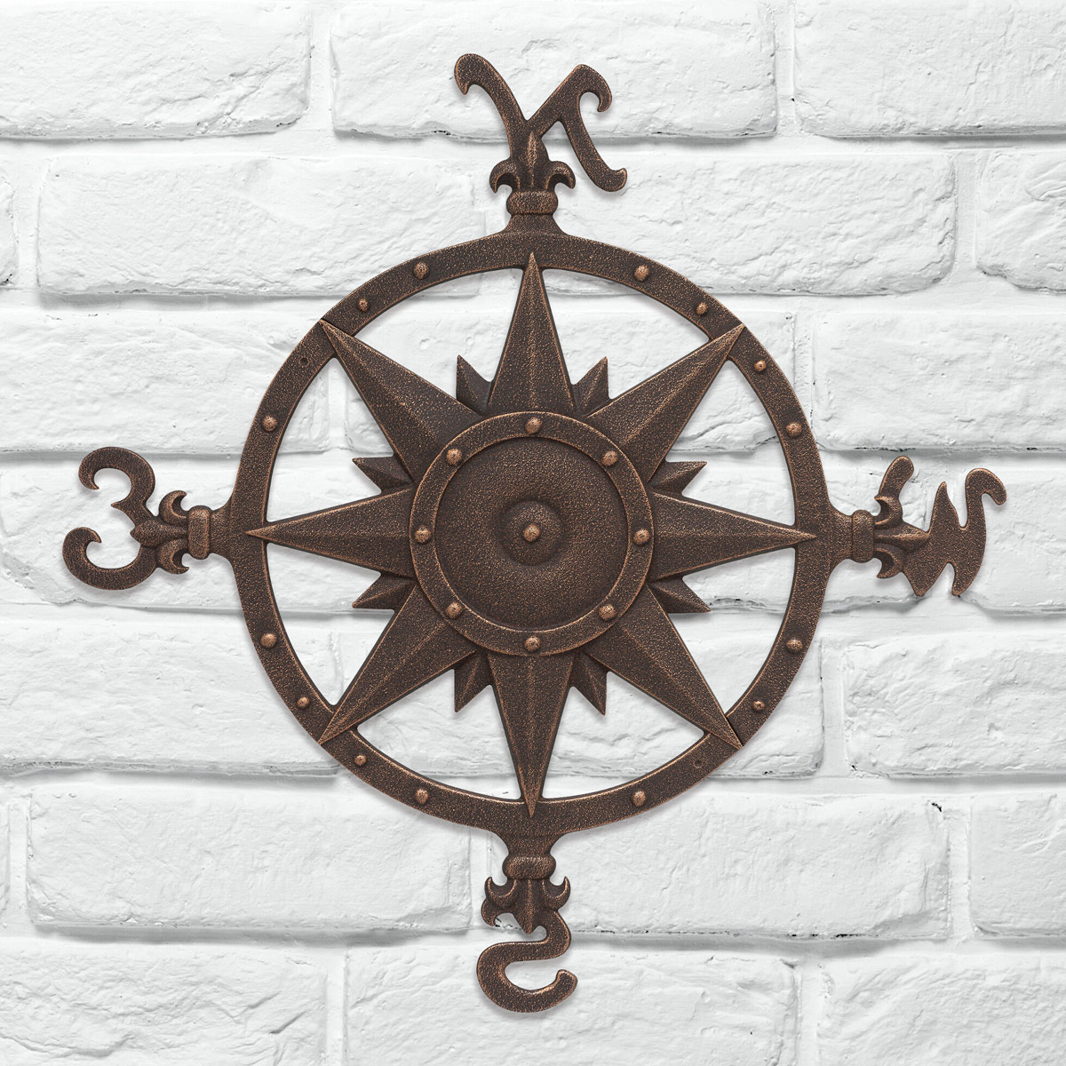 Most Recently Released Beach Wall Art: Oil Rub Bronze Compass Rose Wall Décor For Oil Rubbed Metal Wall Decor (View 9 of 20)