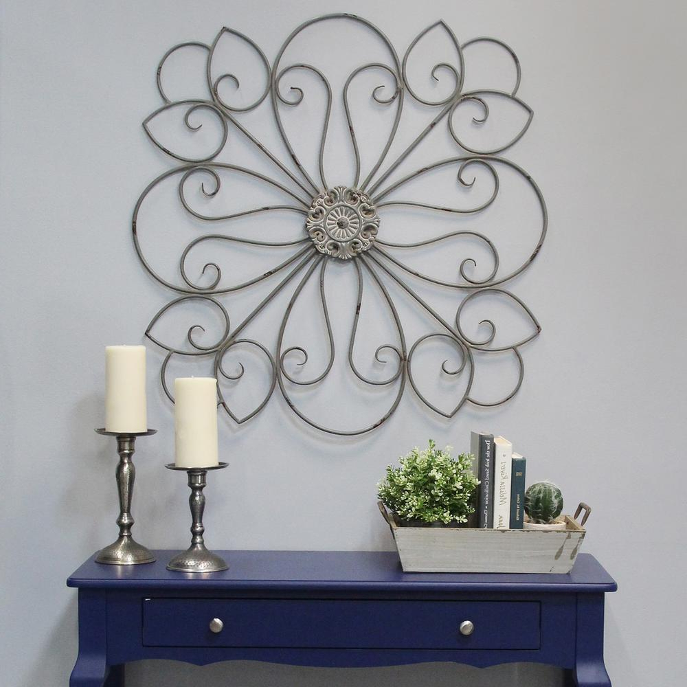 Most Recently Released European Medallion Wall Decor For Stratton Home Decor Delicate Metal Scroll Medallion Wall Decor (Gallery 19 of 20)