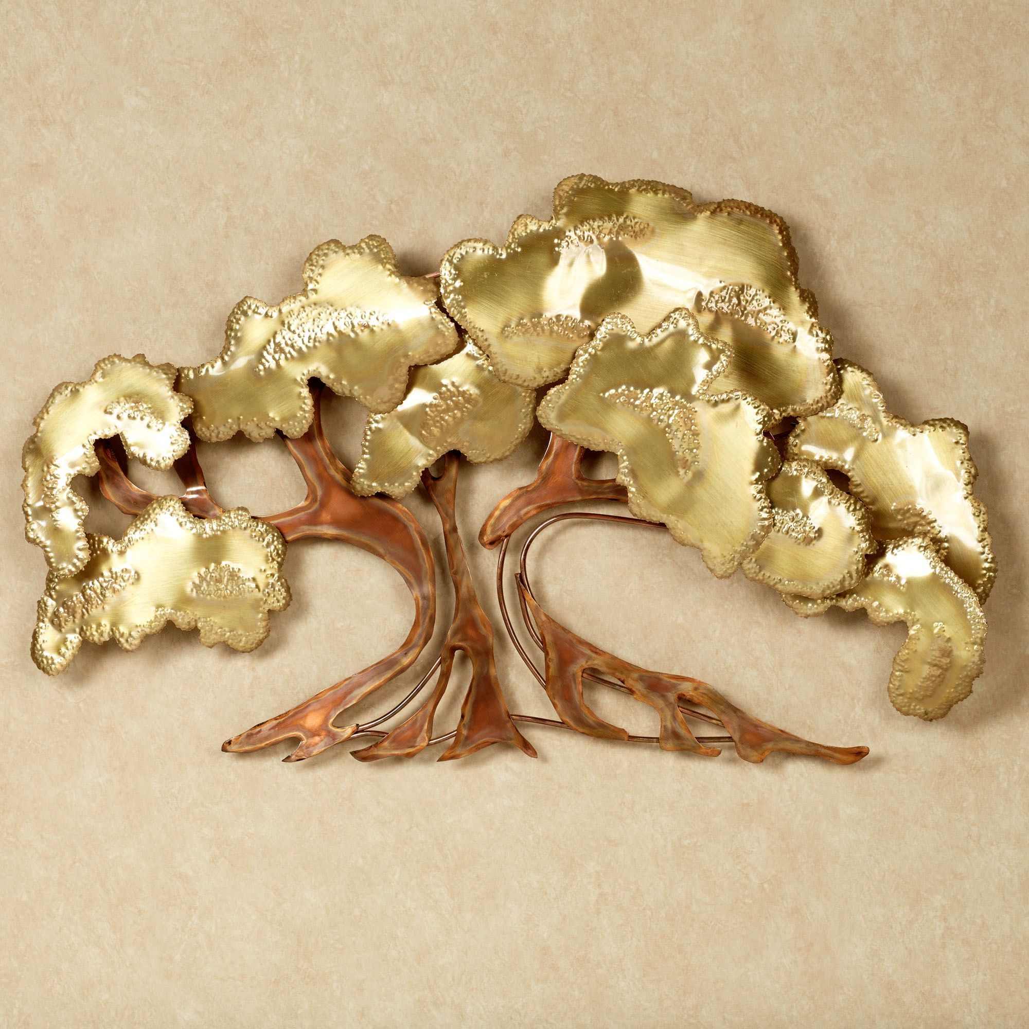 Most Recently Released Leaves Metal Sculpture Wall Decor In Zen Tree Metal Wall Sculpture (Gallery 14 of 20)