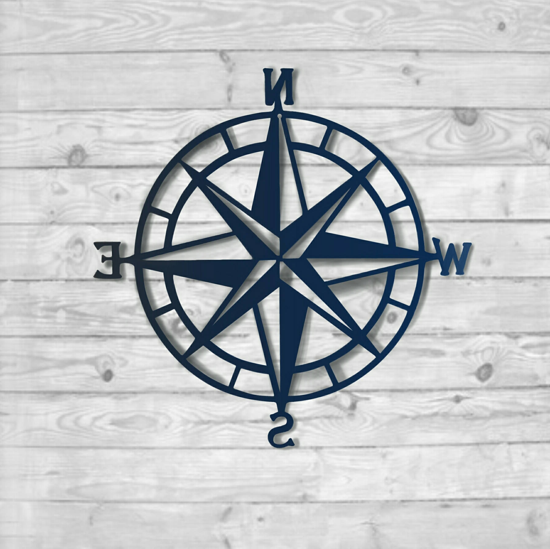 Most Recently Released Textured Navy: Nautical Compass – Nautical Wall Art – Metal Wall Art In Outdoor Metal Wall Compass (View 10 of 20)