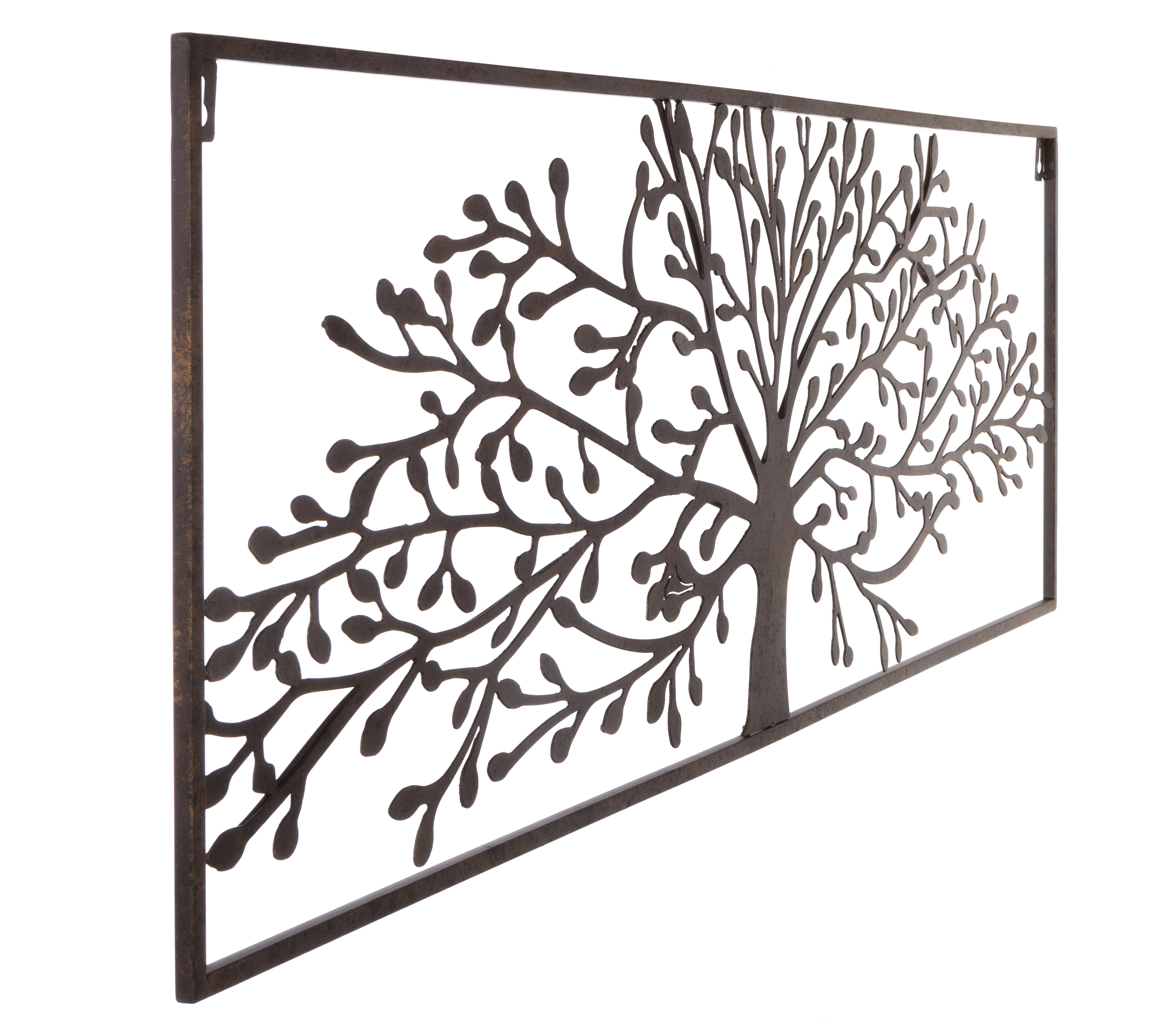 Most Recently Released Windswept Tree Wall Decor For Gracie Oaks Plasma Cut Oak Tree Wall Decor (Gallery 5 of 20)