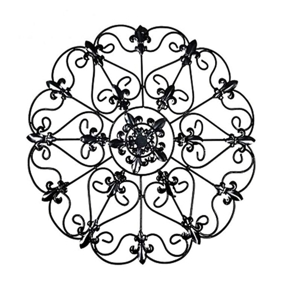 Most Up To Date Belle Circular Scroll Wall Decor Throughout Amazon: The Lakeside Collection Iron Wall Medallion – Authentic (View 16 of 20)