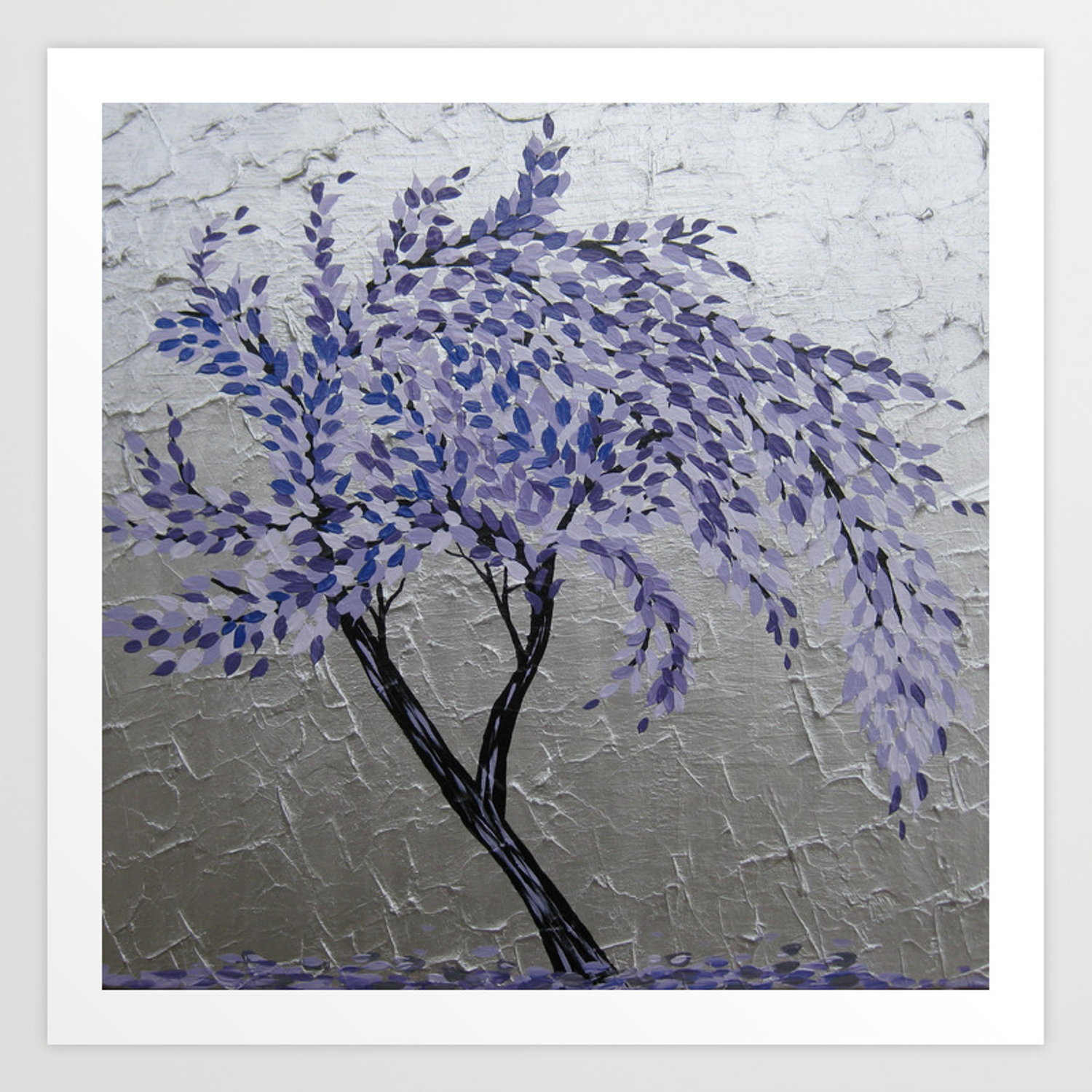 Most Up To Date Purple Windswept Tree Art Printcathyjacobs (Gallery 13 of 20)