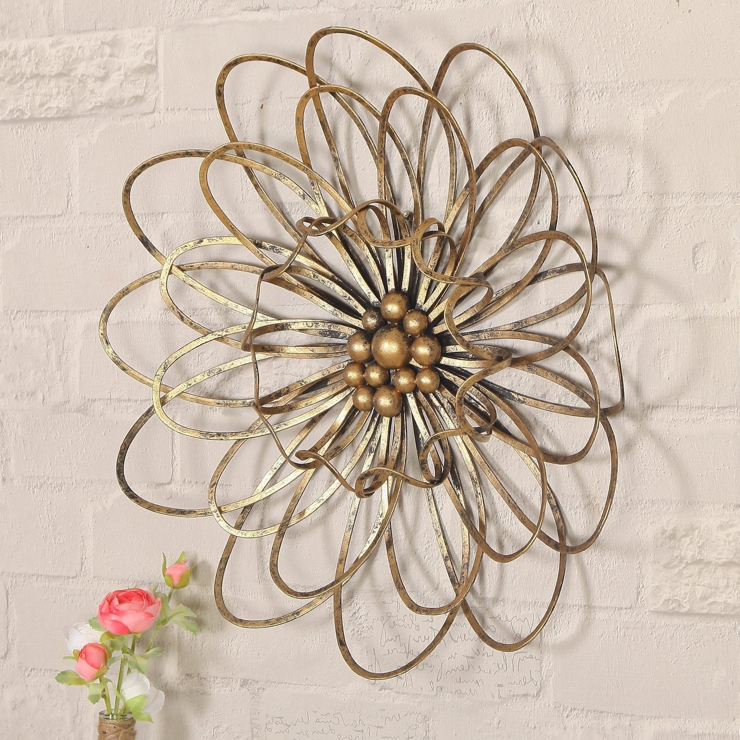 Most Up To Date Shop Flower Urban Design Metal Wall Decor – Free Shipping Today Pertaining To Flower Urban Design Metal Wall Decor (Gallery 8 of 20)