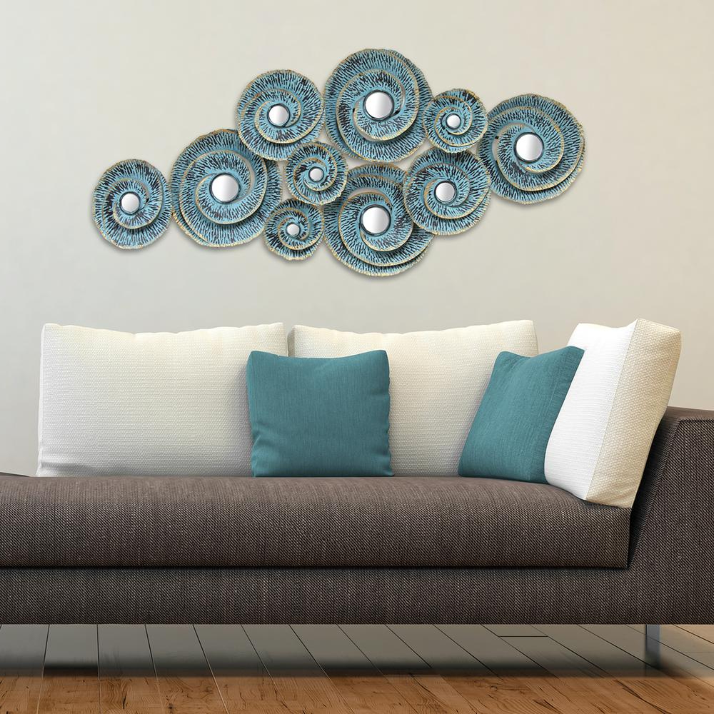 Multi Plates Wall Decor Throughout Most Recently Released Stratton Home Decor Stratton Home Decor Decorative Waves Metal Wall (View 17 of 20)