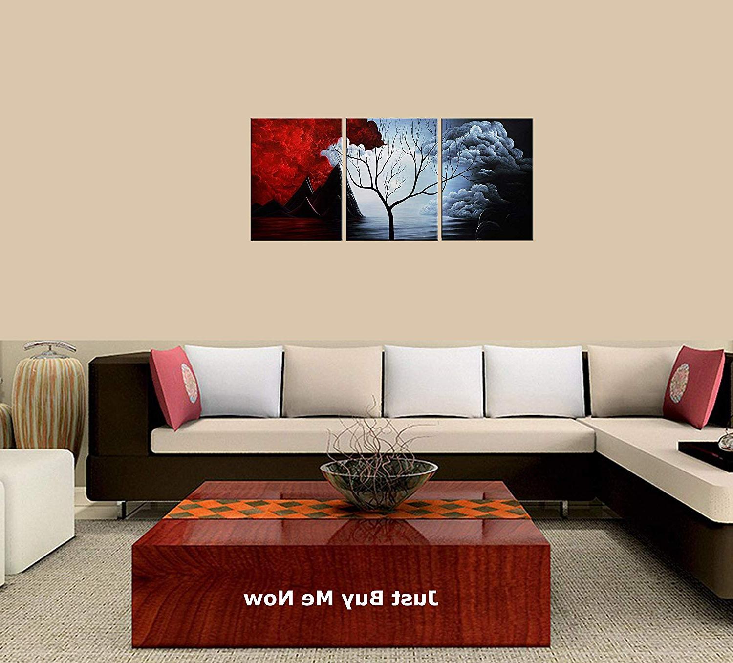 Newest 2 Piece Panel Wood Wall Decor Sets (Set Of 2) Intended For Amazon: Peacock Jewels Premium Quality Canvas Printed Wall Art (View 11 of 20)