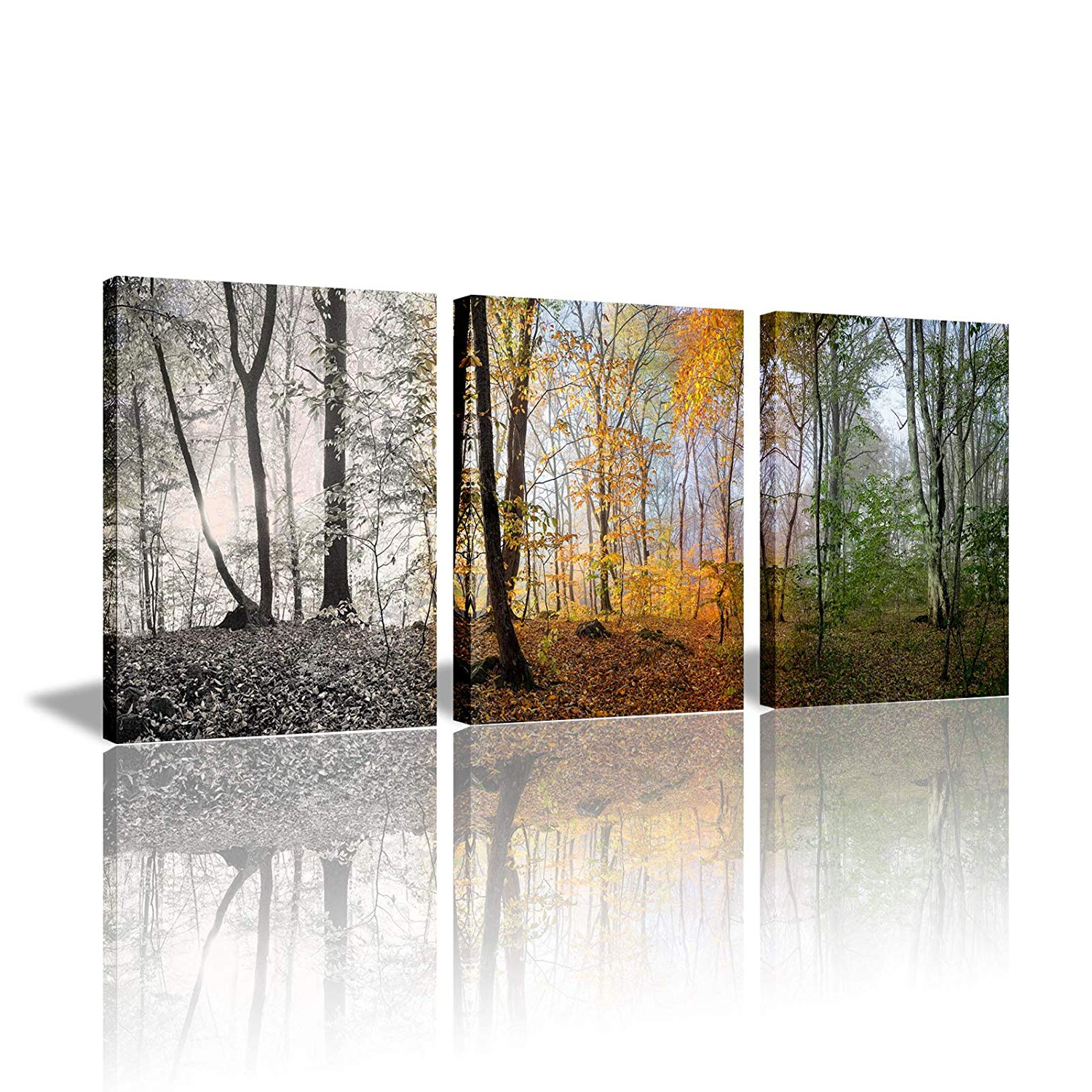 Newest Amazon: 3 Piece Canvas Wall Art Set For Bedroom Decor Nature Pertaining To 3 Piece Magnolia Brown Panel Wall Decor Sets (Gallery 16 of 20)